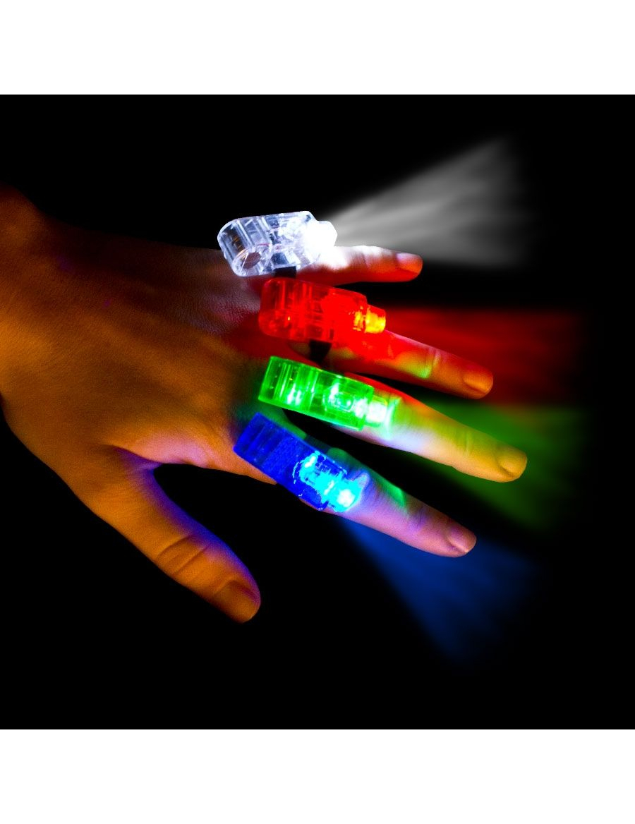 4 bunte led lampen fr die finger - Bunte Led Lampen