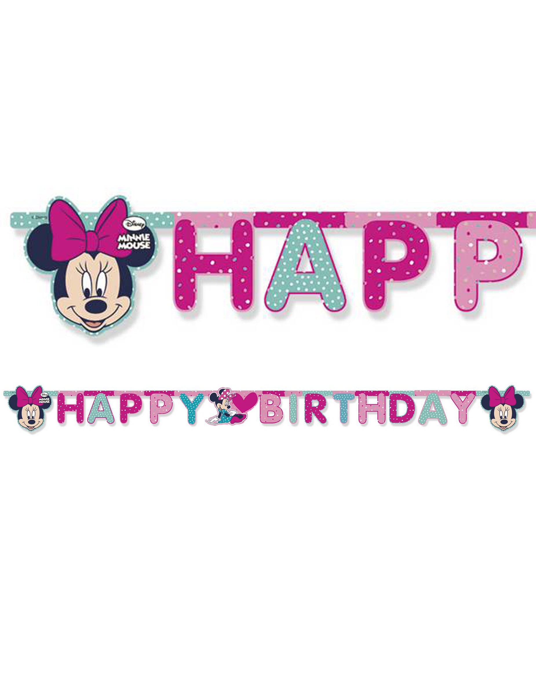 ce7dddc5215359 Minnie Maus™ Happy Birthday Girlande  Partydeko