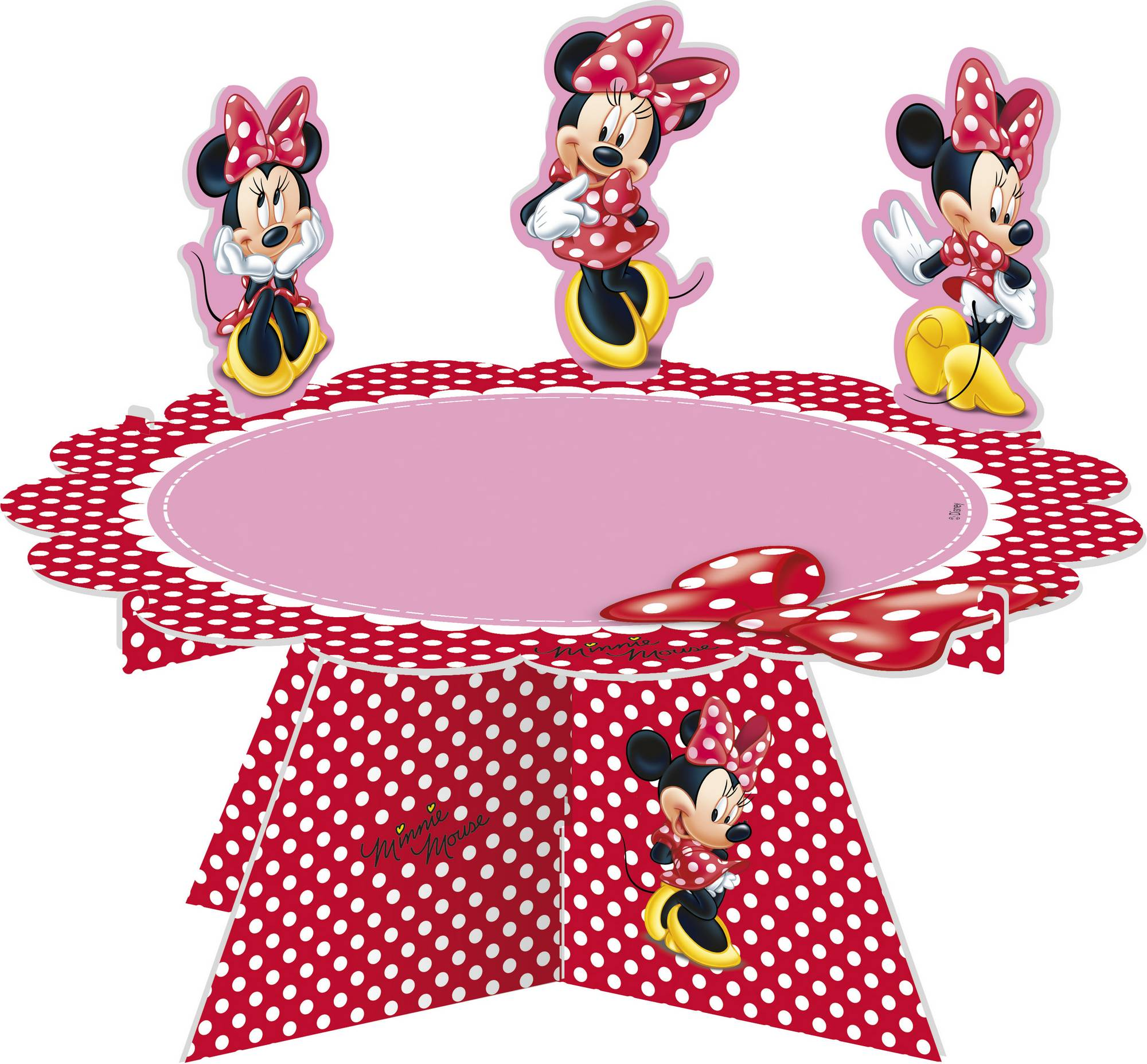 Minnie maus kuchen platte partydeko und g nstige for Kuchen wand platte
