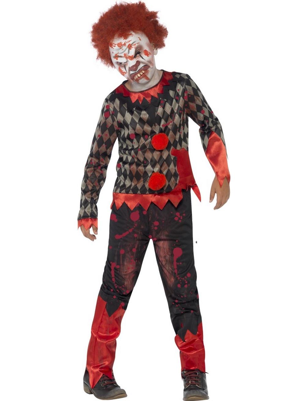 furchterregende zombie clown verkleidung f r kinder. Black Bedroom Furniture Sets. Home Design Ideas