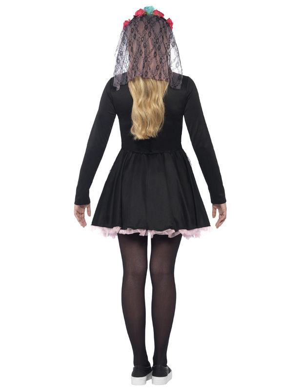 buntes skelett halloween kost m f r teenager kost me f r. Black Bedroom Furniture Sets. Home Design Ideas
