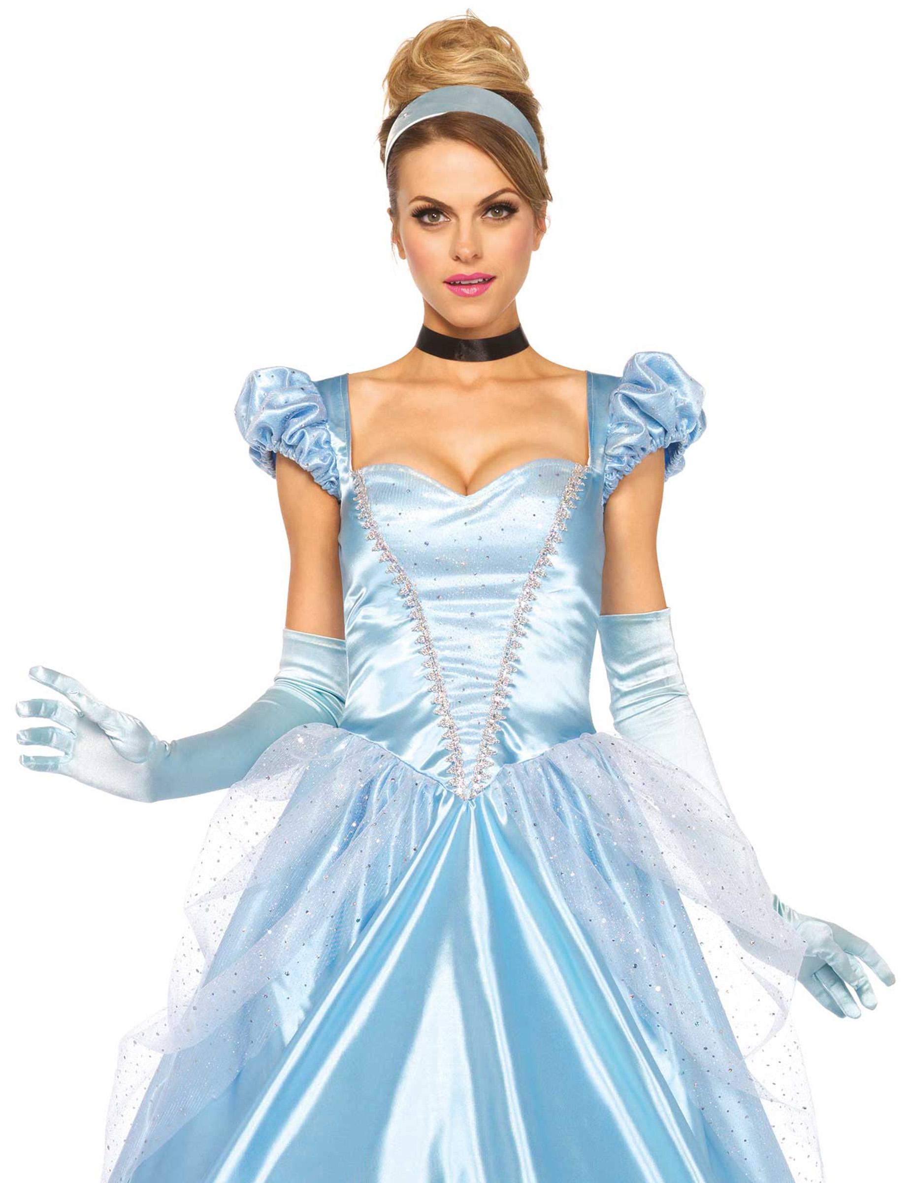 mitternachts-prinzessin kostüm für damen hellblau