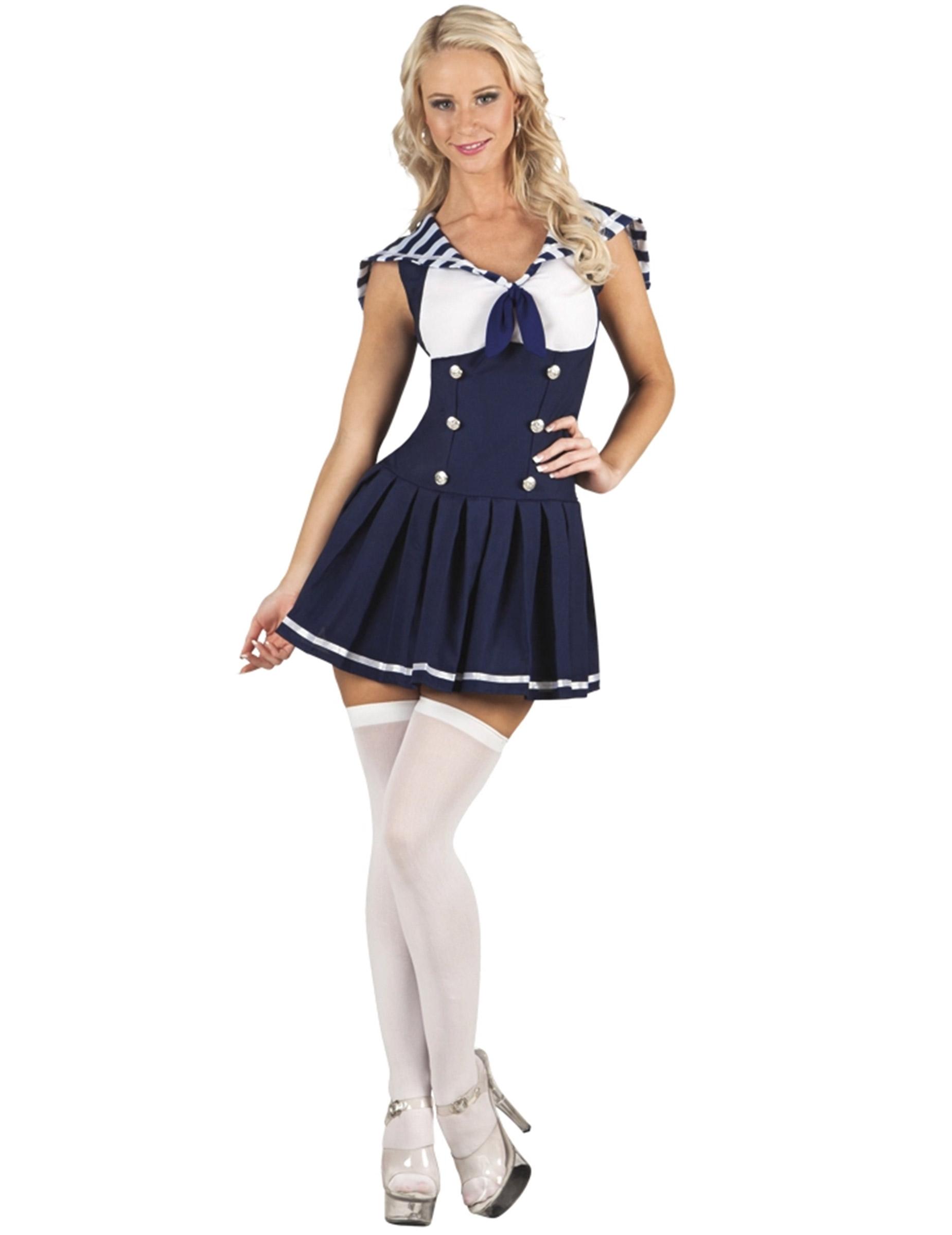 Sexy Matrosen-Kostüm für Damen 77812