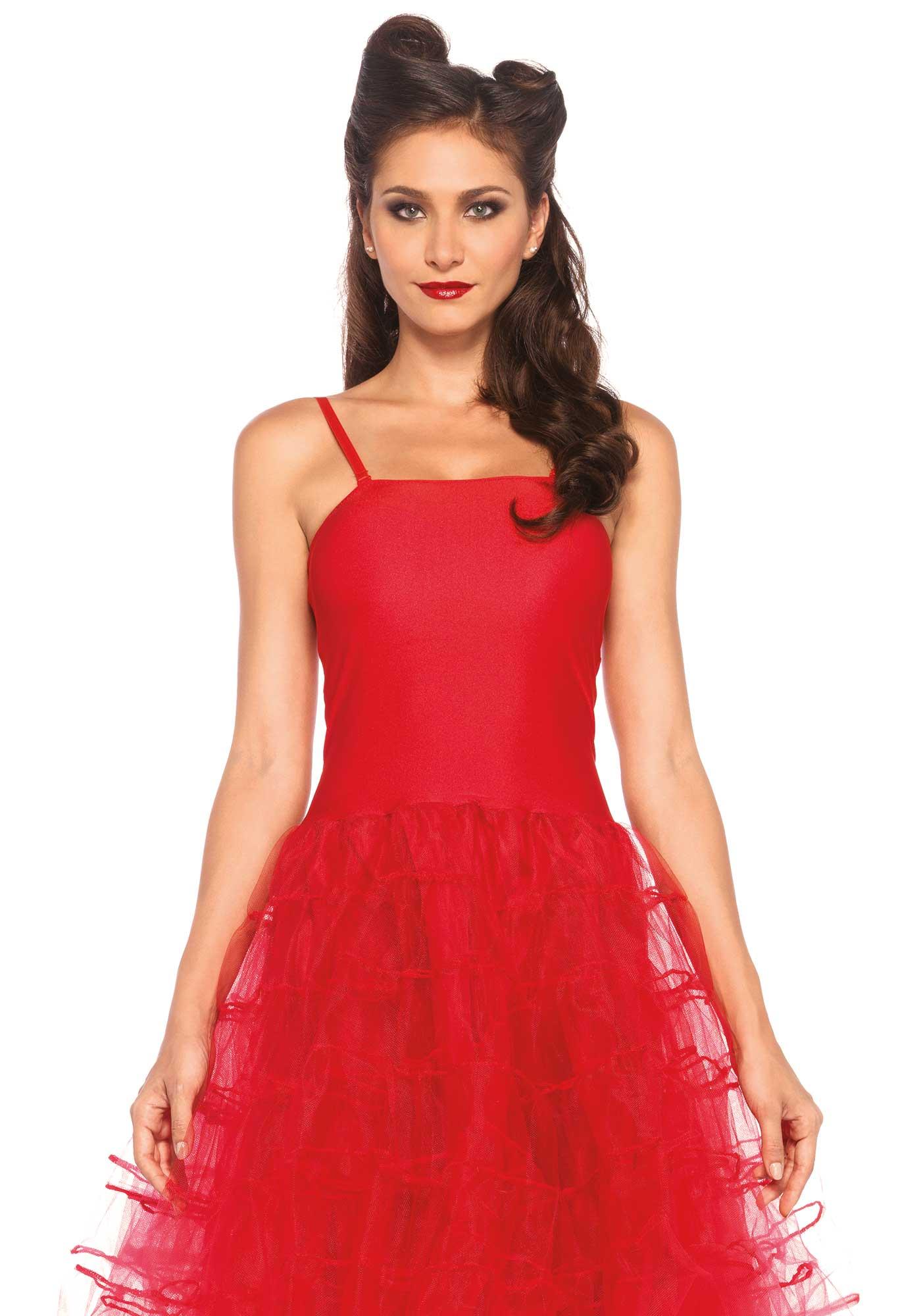 Rotes Kleid als 50er Jahre Kostüm für Frauen: Kostüme für Erwachsene ...