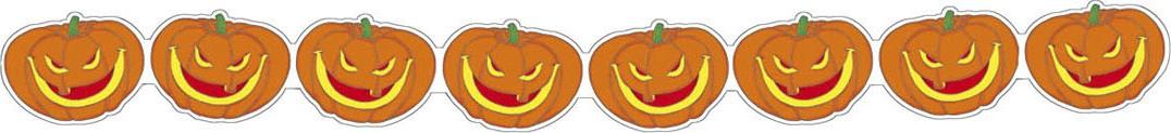 Halloween girlande mit h hnisch lachenden k rbissen 3 m partydeko und g nstige faschingskost me - Tischdeko mit kurbissen ...