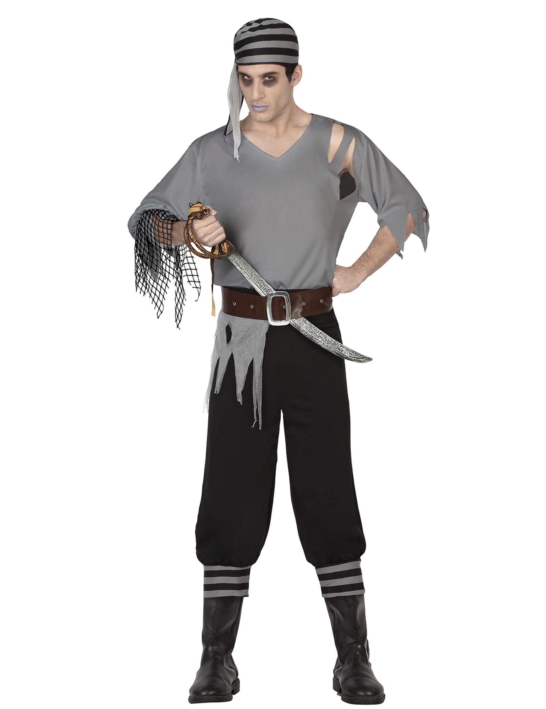 piraten zombie kost m f r herren kost me f r erwachsene und g nstige faschingskost me vegaoo. Black Bedroom Furniture Sets. Home Design Ideas