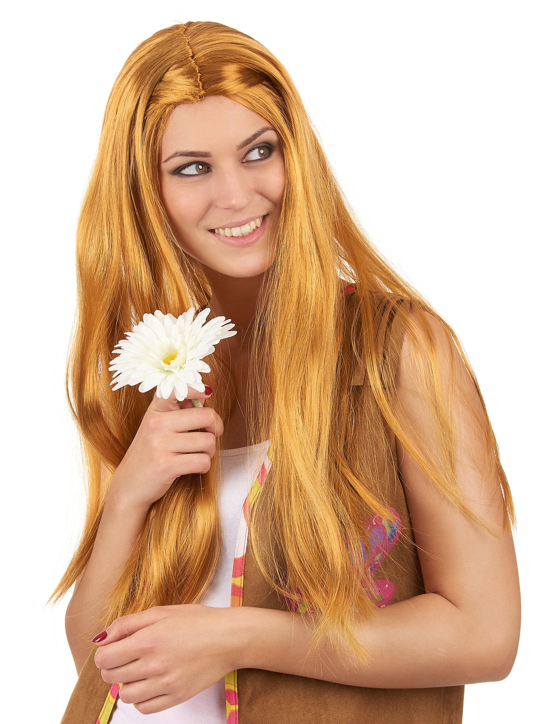 Hippie Rothaar-Perücke für Damen 79830