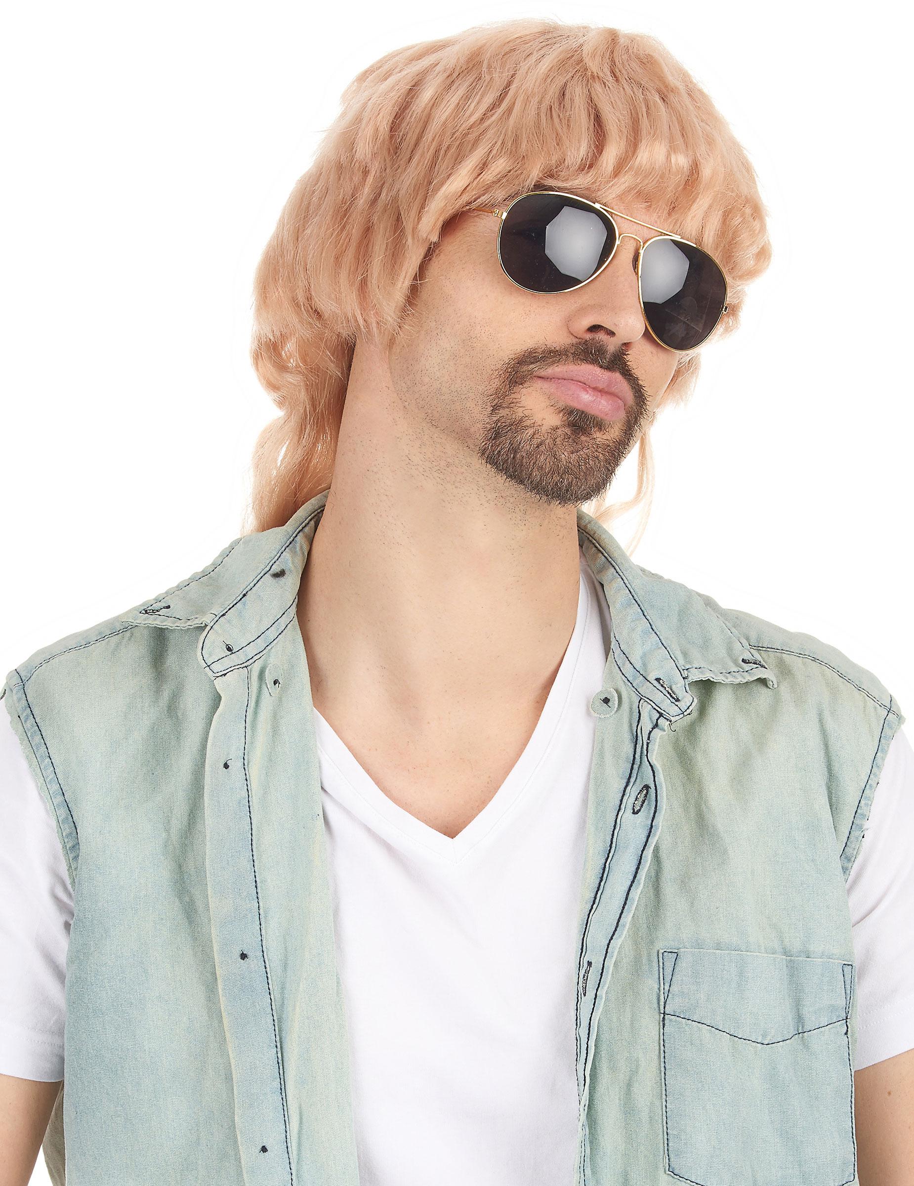 Blonde Vokuhila-Perücke für Männer 79883