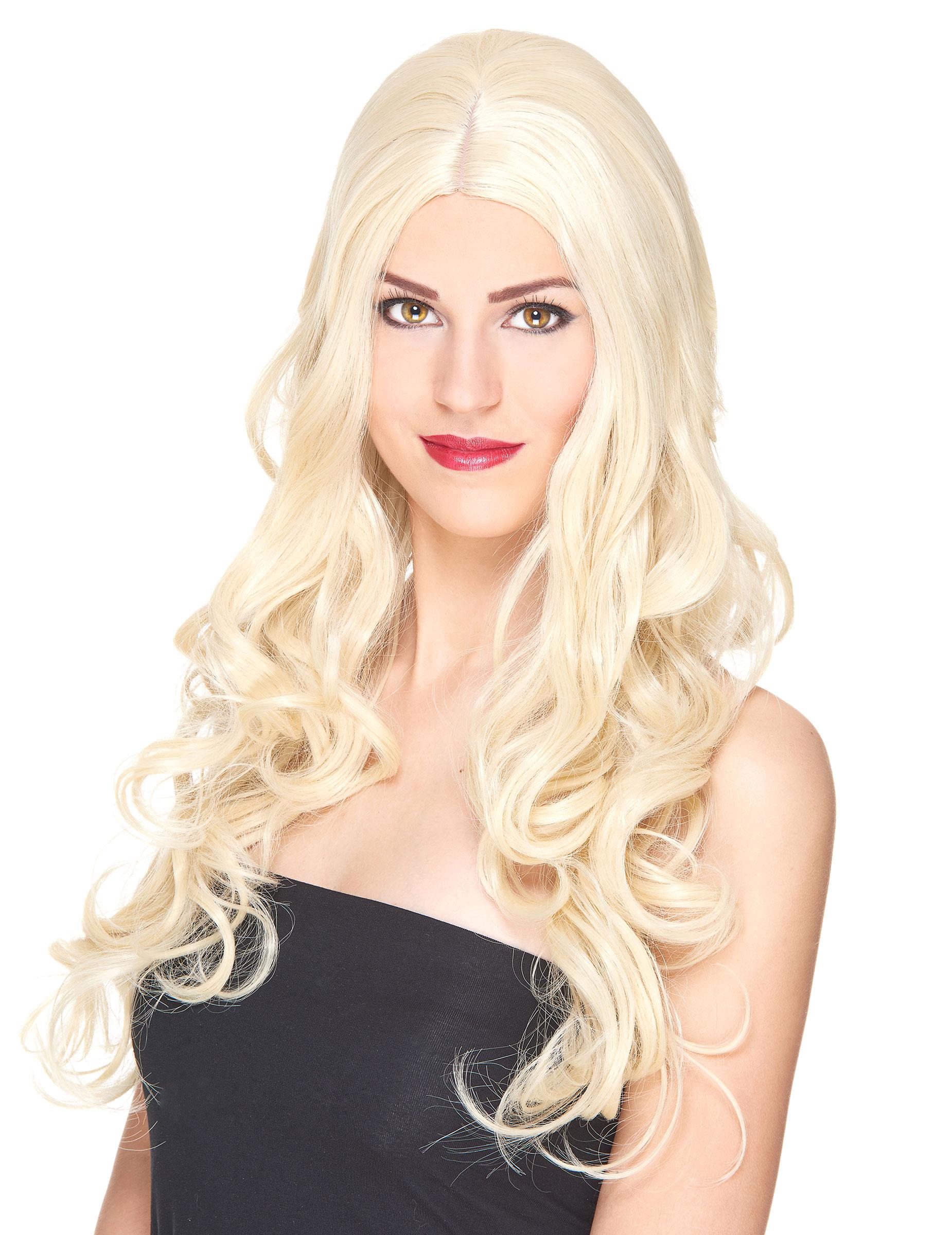 Blonde Perucke Mit Locken Fur Frauen