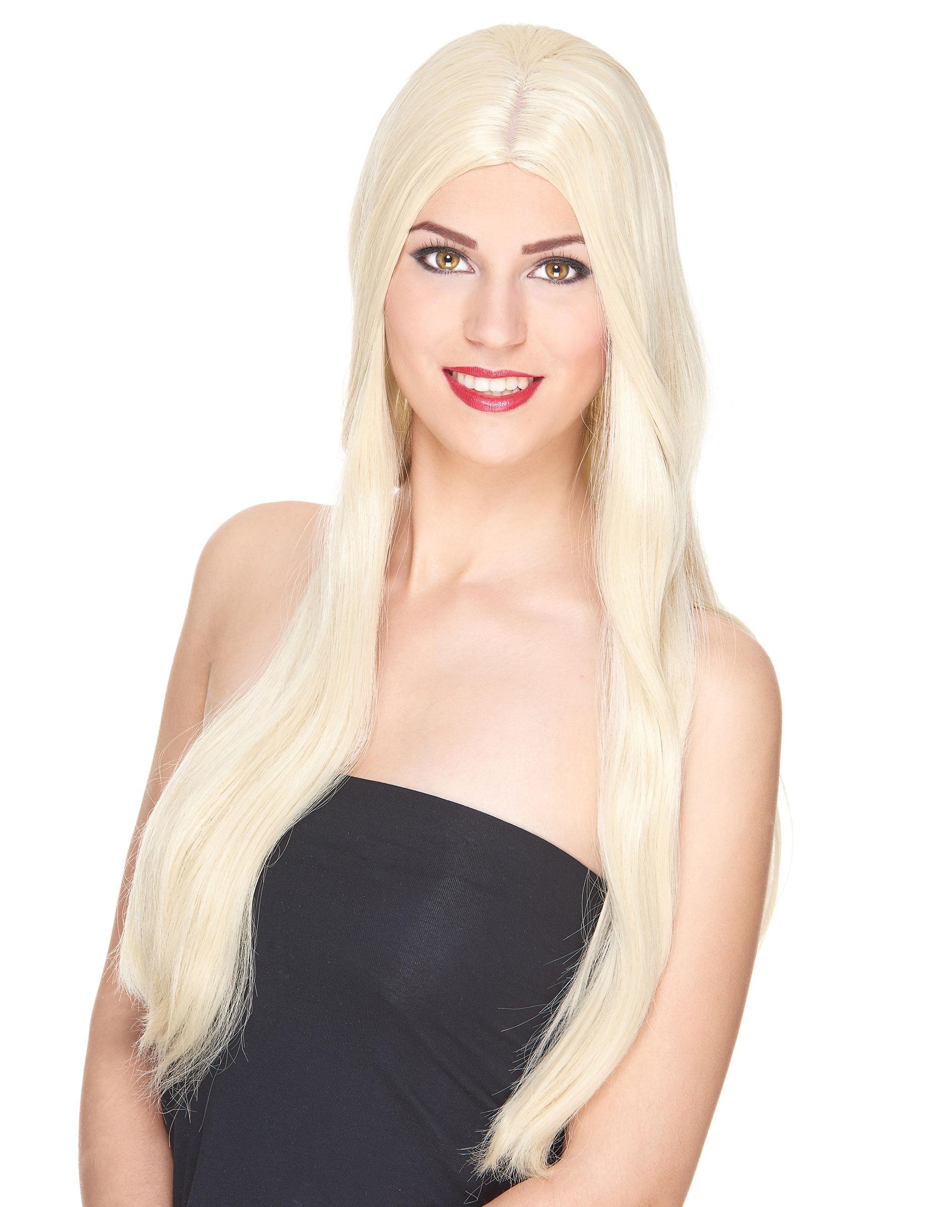 luxus per cke mit sehr langen blonden haaren f r frauen per cken und g nstige faschingskost me. Black Bedroom Furniture Sets. Home Design Ideas