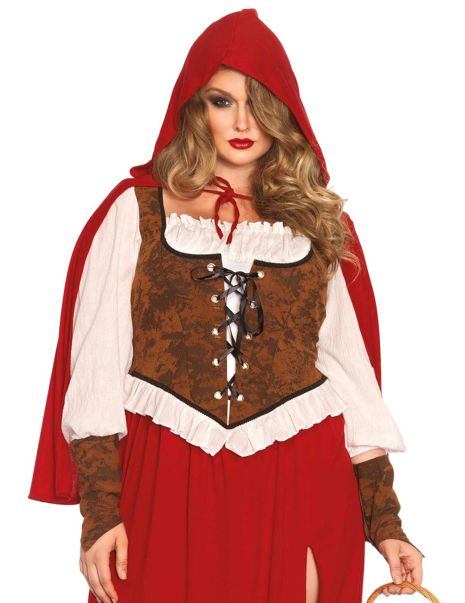 ba1fae60e4e5 Rotkäppchen-Kostüm Plus Size für Damen braun-weiss-rot  Kostüme für ...