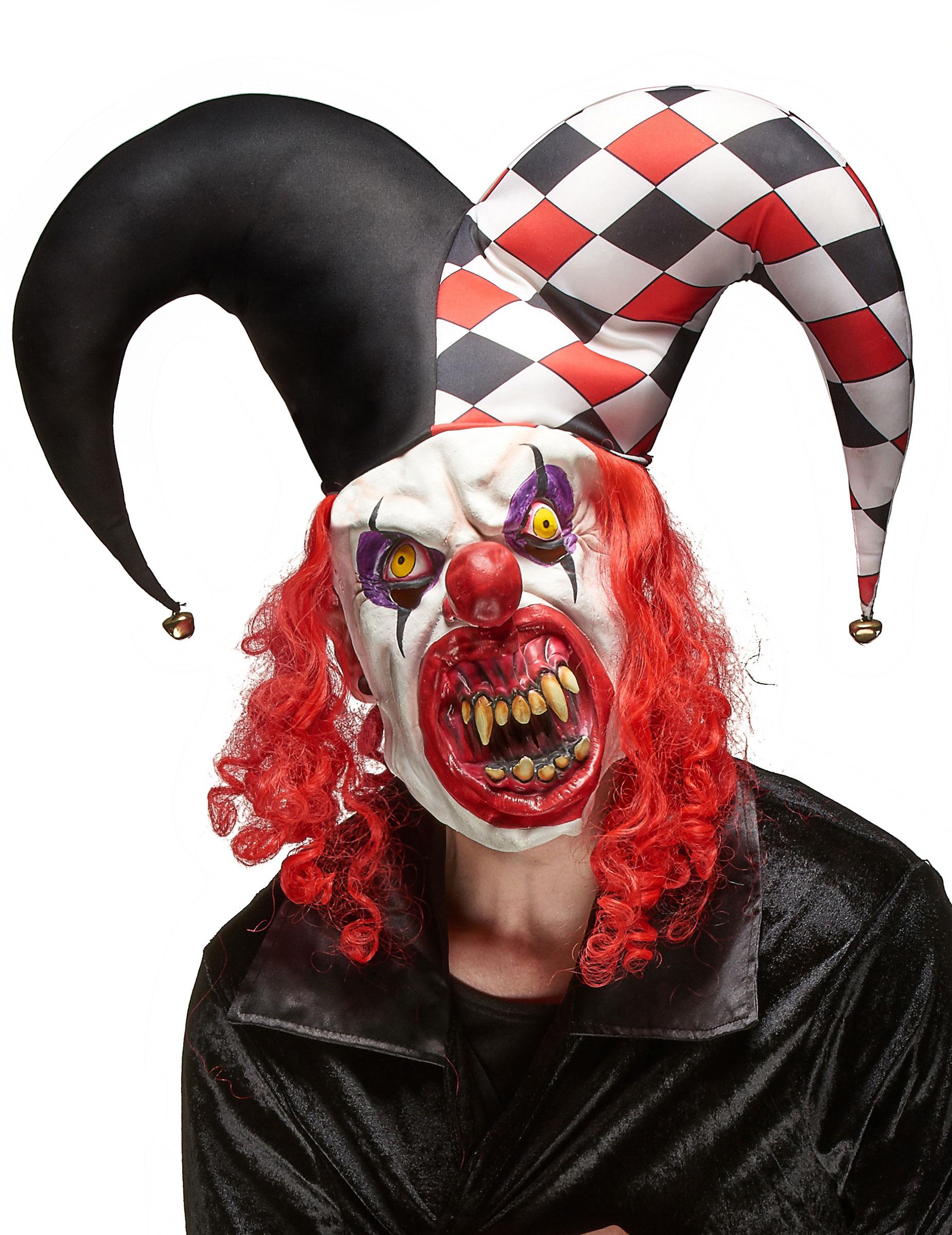 Gruselige Joker Latex Maske für Erwachsene 80218