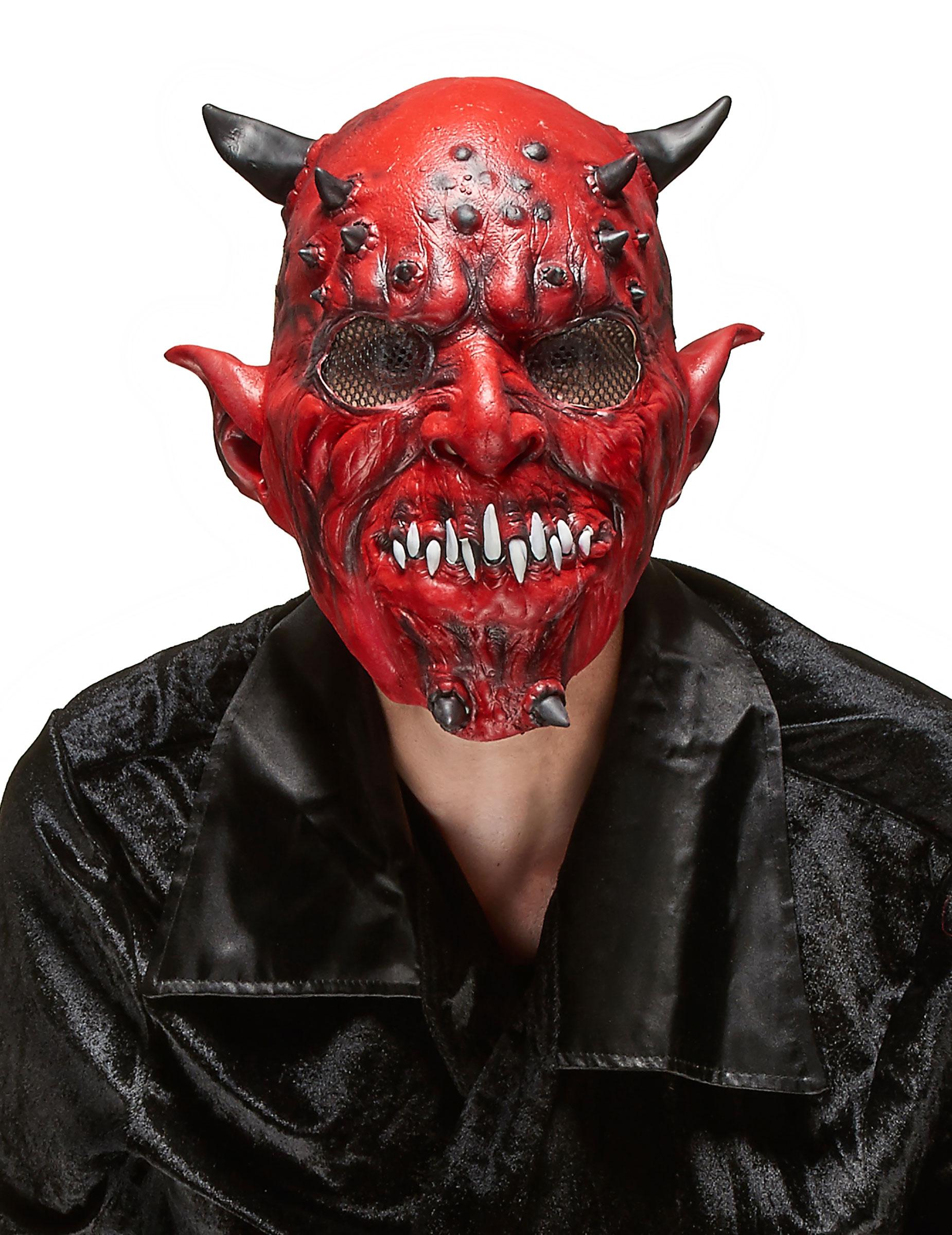 latex maske f r erwachsene an halloween d mon masken. Black Bedroom Furniture Sets. Home Design Ideas
