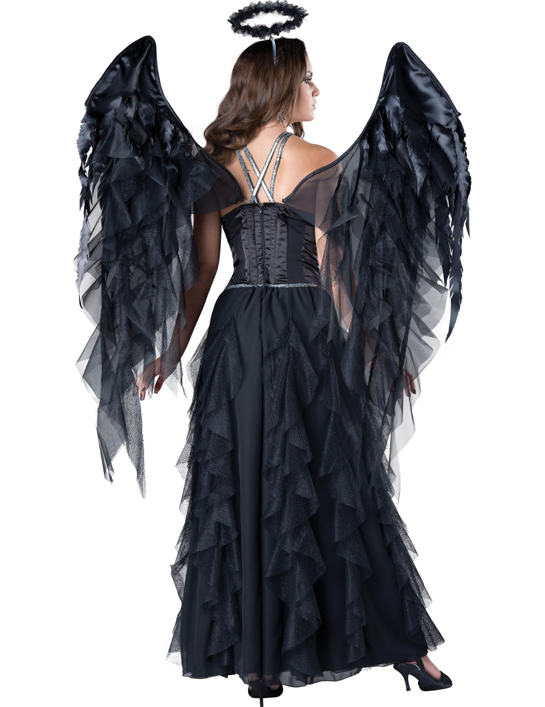 Deluxe Schwarzer Engel Kostum
