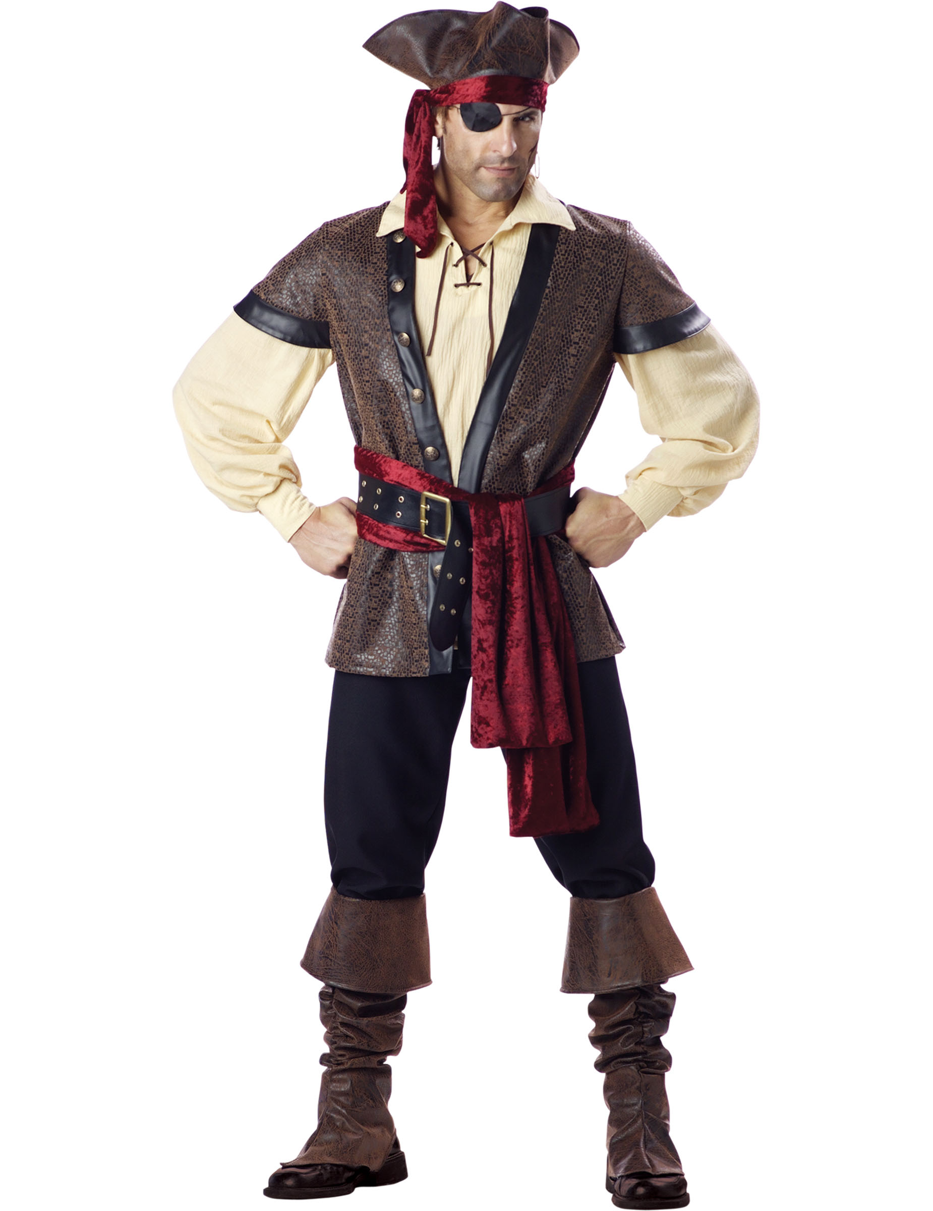 Deluxe Seeräuber Kostüm für Herren
