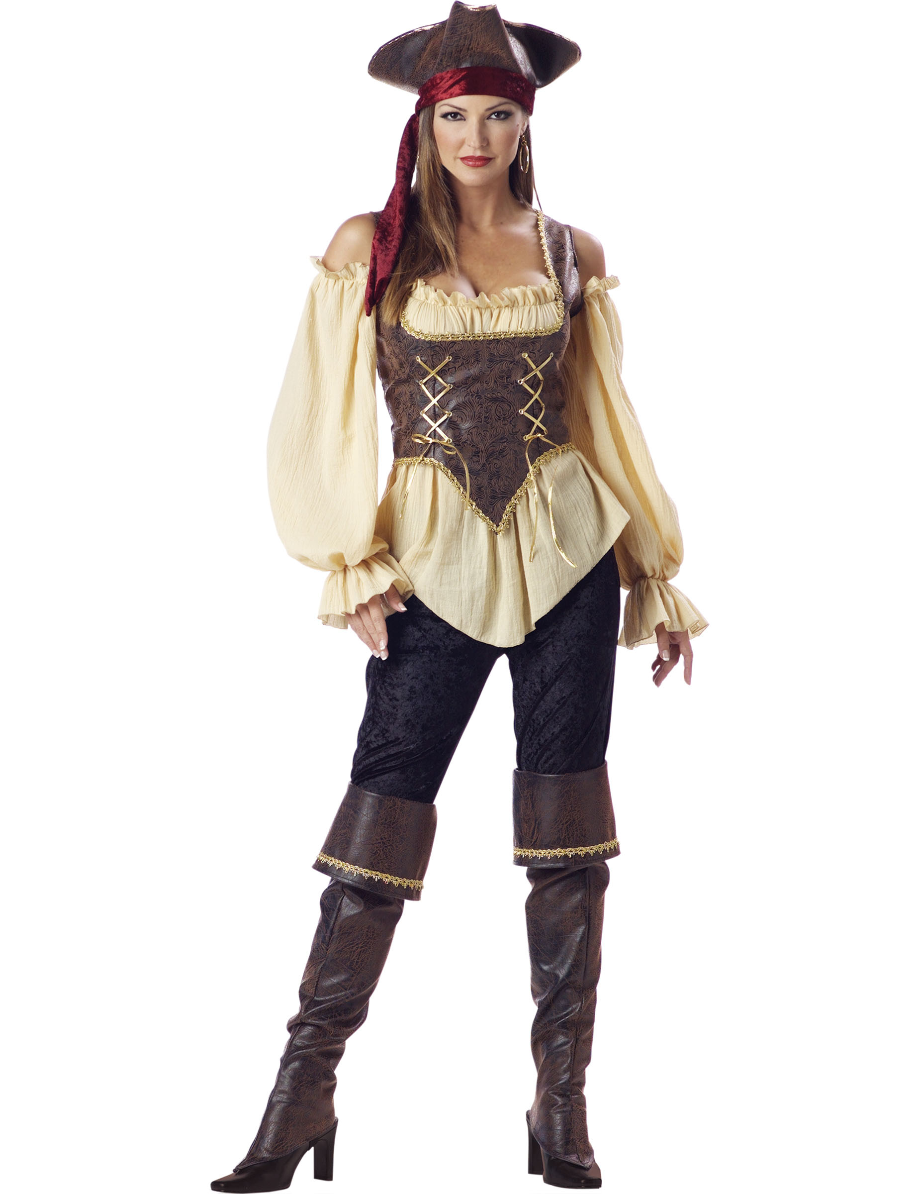 Hochwertiges Piratinnen Kostum Fur Frauen
