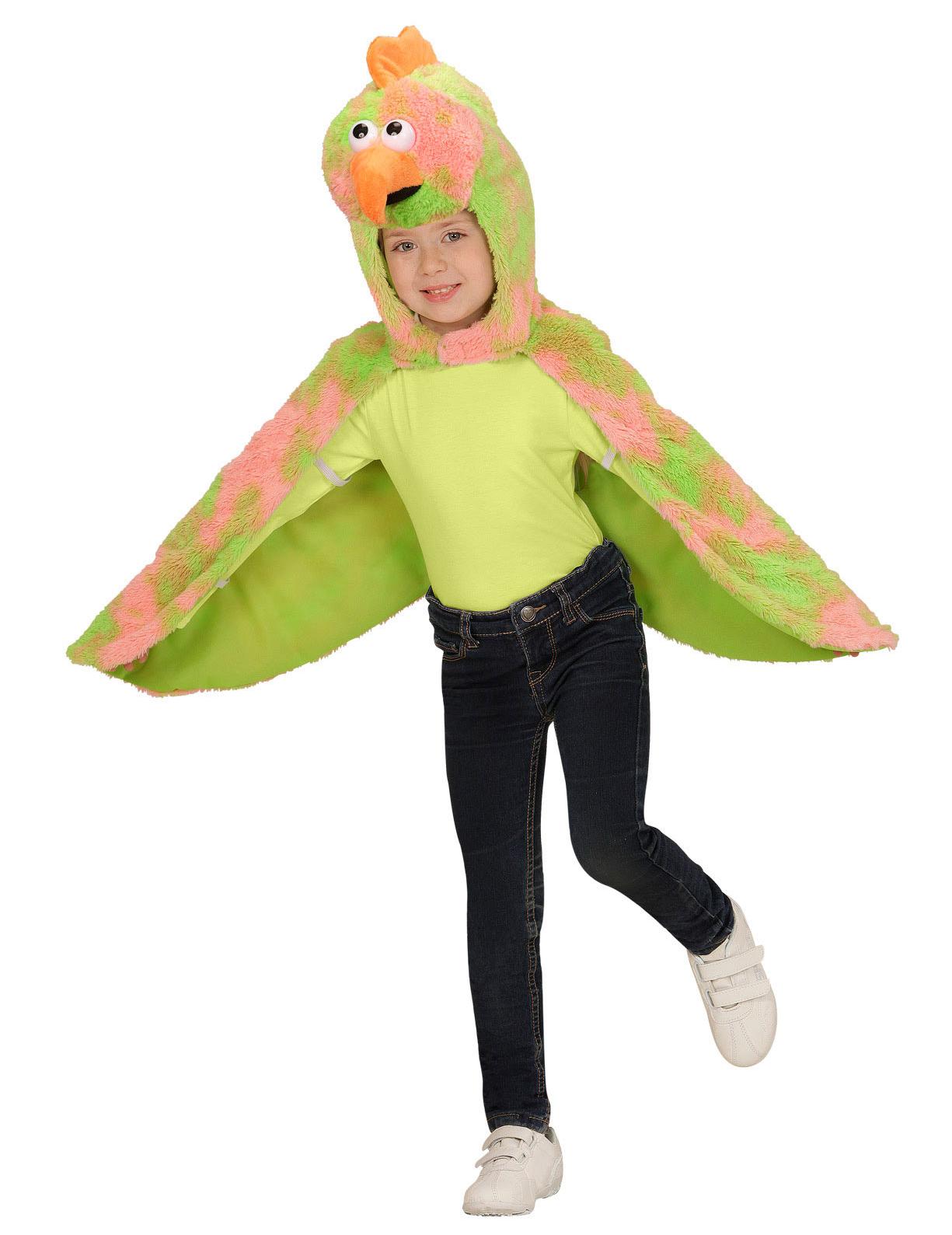 poncho mit kapuze als kanarienvogel kost m f r kinder. Black Bedroom Furniture Sets. Home Design Ideas