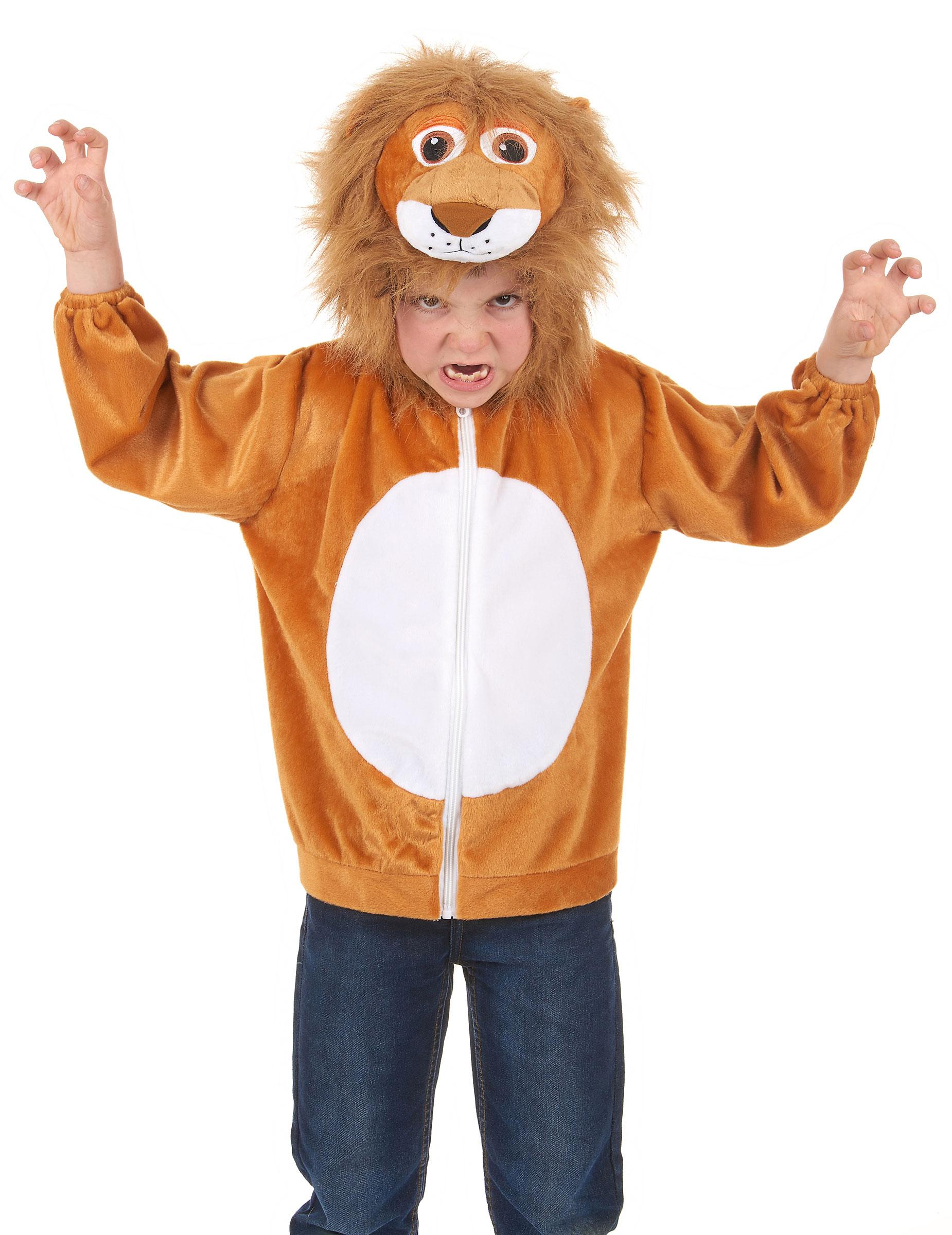 kapuzenjacke löwe für kinder kostüme für kinderund
