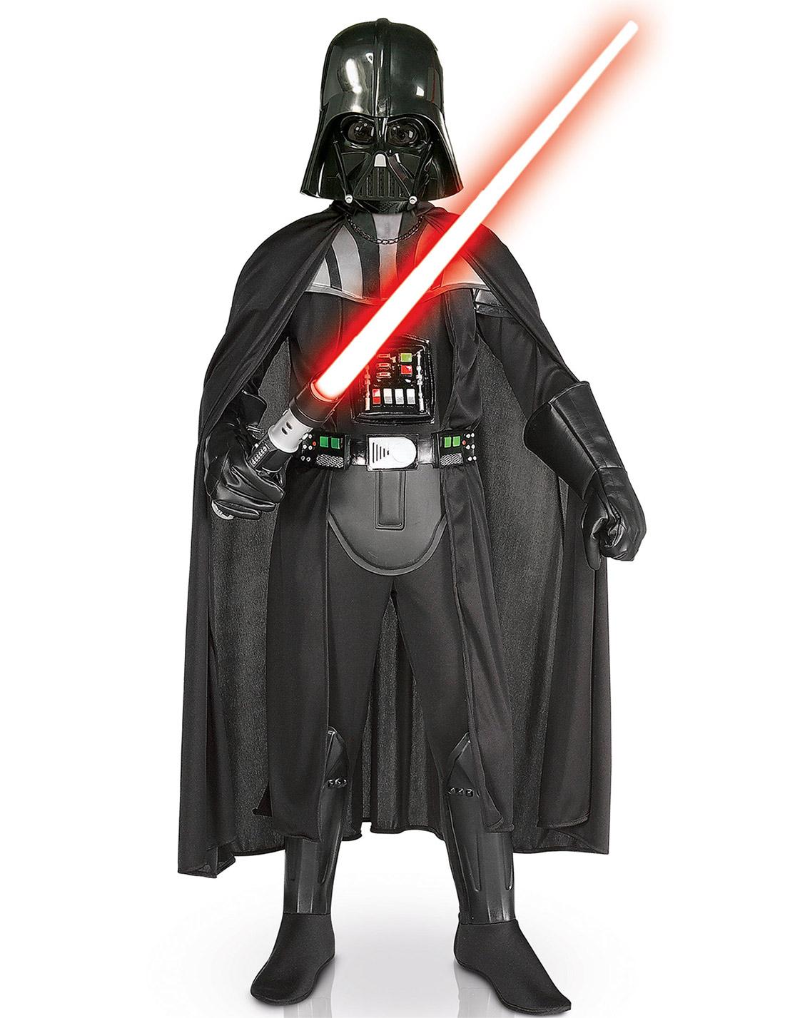 Deluxe Darth Vader-Kostüm für Kinder mit Maske - 104/116 (5-6 Jahre) 81207