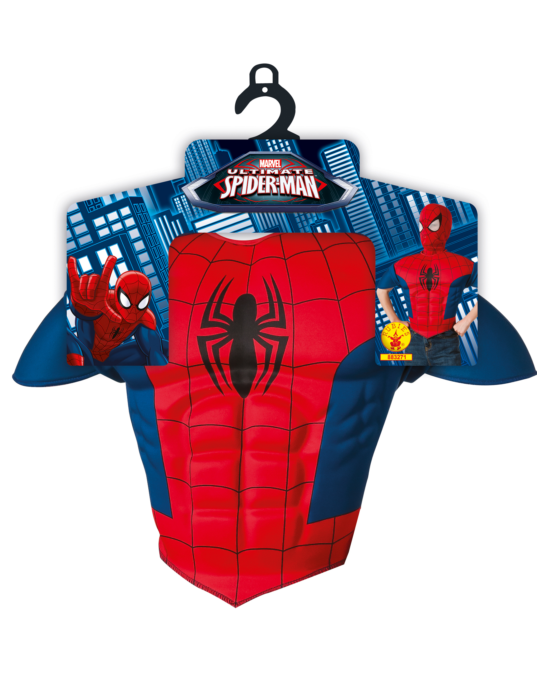 spiderman kost mset f r kinder mit gepolstertem oberteil und maske. Black Bedroom Furniture Sets. Home Design Ideas