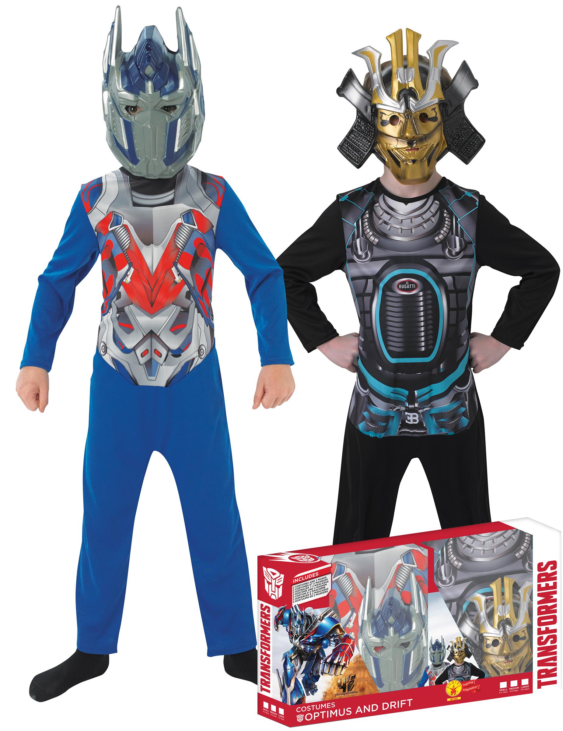 Klassische Kinder Kostüme Transformers Optimus Prime Und Drift In Geschenkpackung