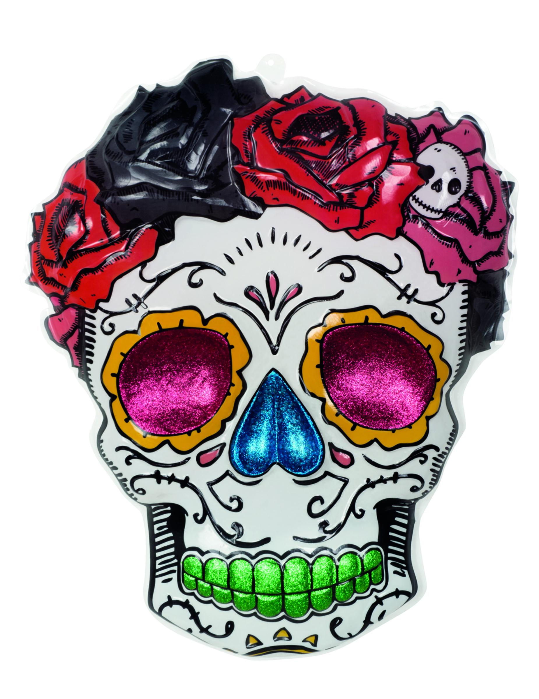 Frau skelett wanddekoration f r halloween - Dekoration fur halloween ...