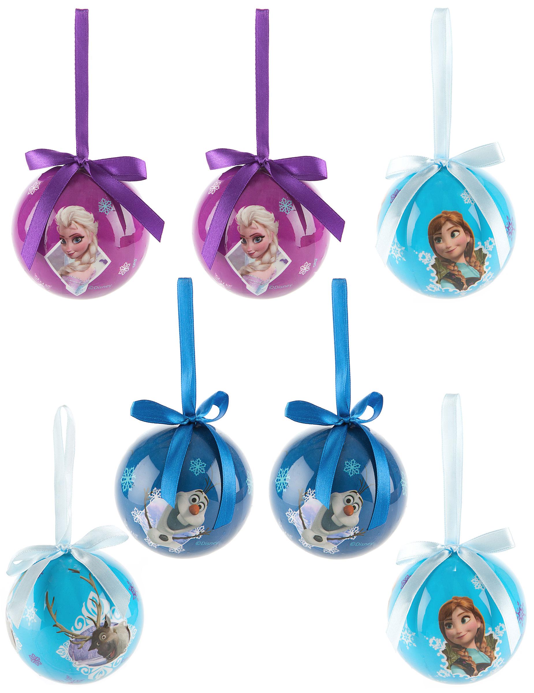 7 weihnachtskugeln mit den portraits der figuren aus for Disney weihnachtskugeln