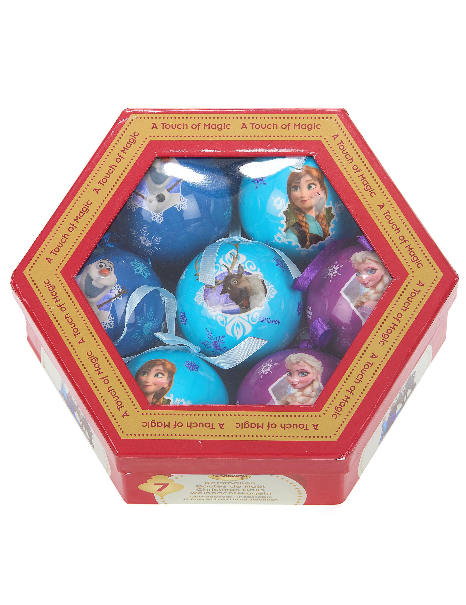7 weihnachtskugeln mit den portraits der figuren aus disneys die eisk nigin - Disney weihnachtskugeln ...