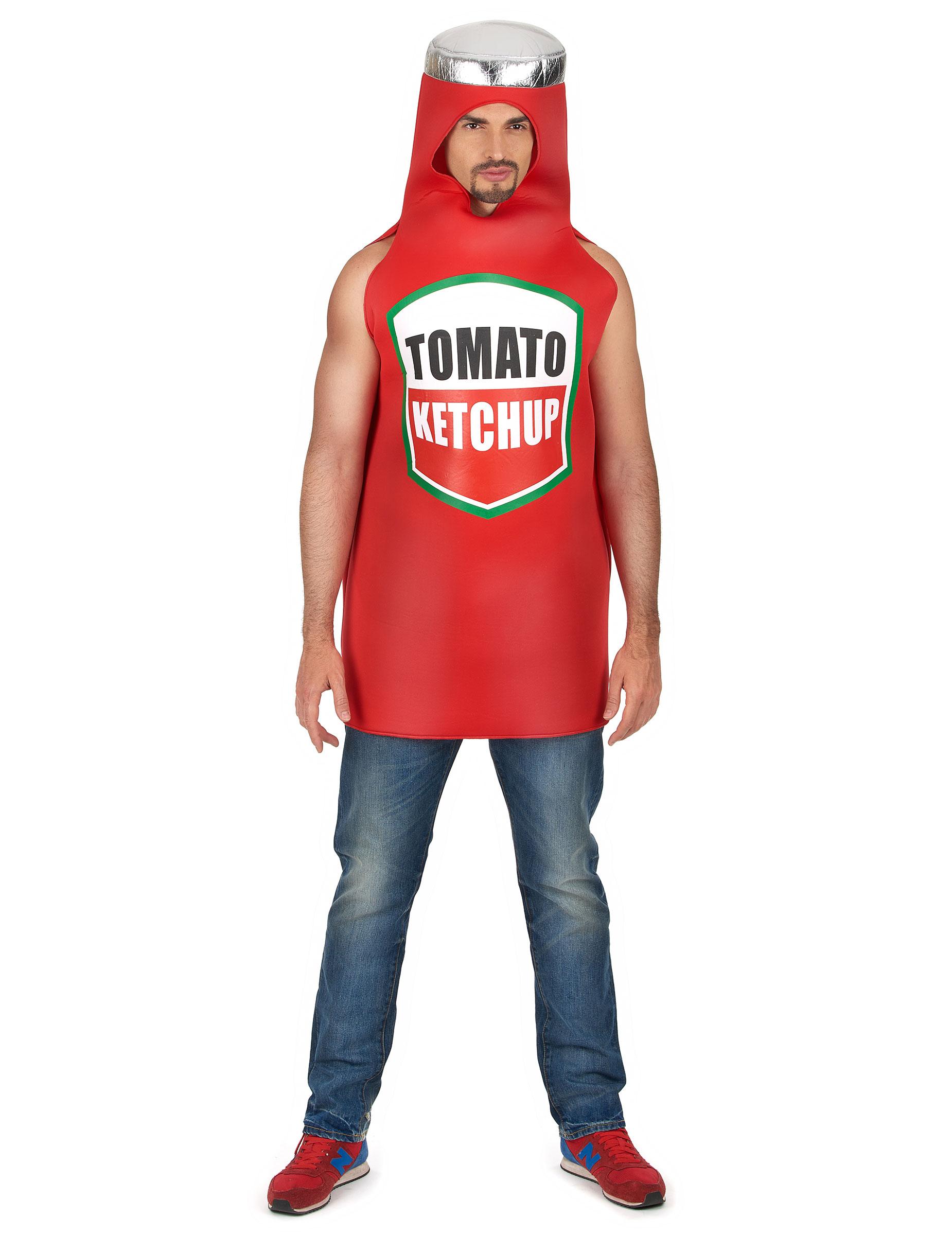 Ketchup Flasche Kostüm für Erwachsene 82303