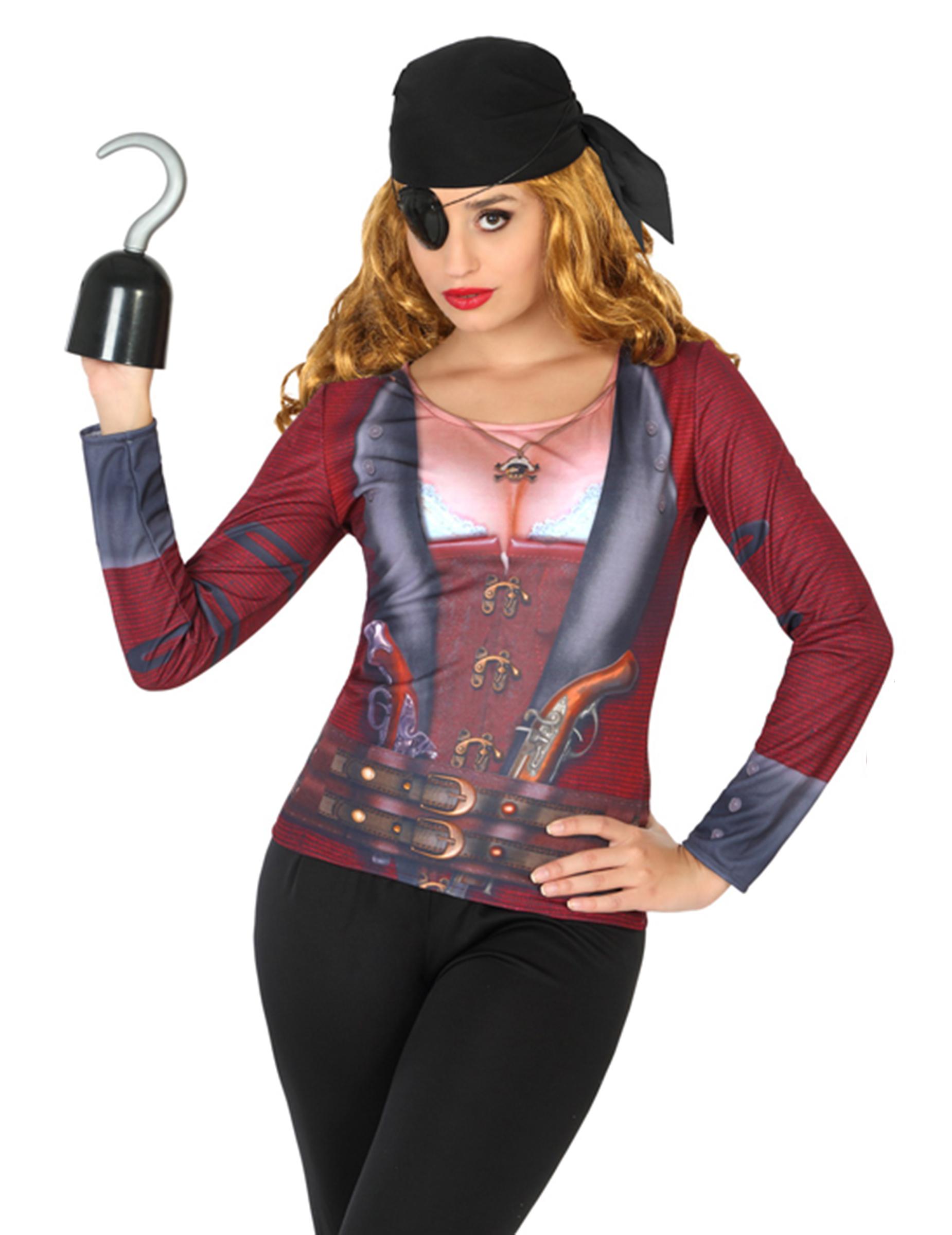 Piraten T-Shirt für Damen - M / L 82843