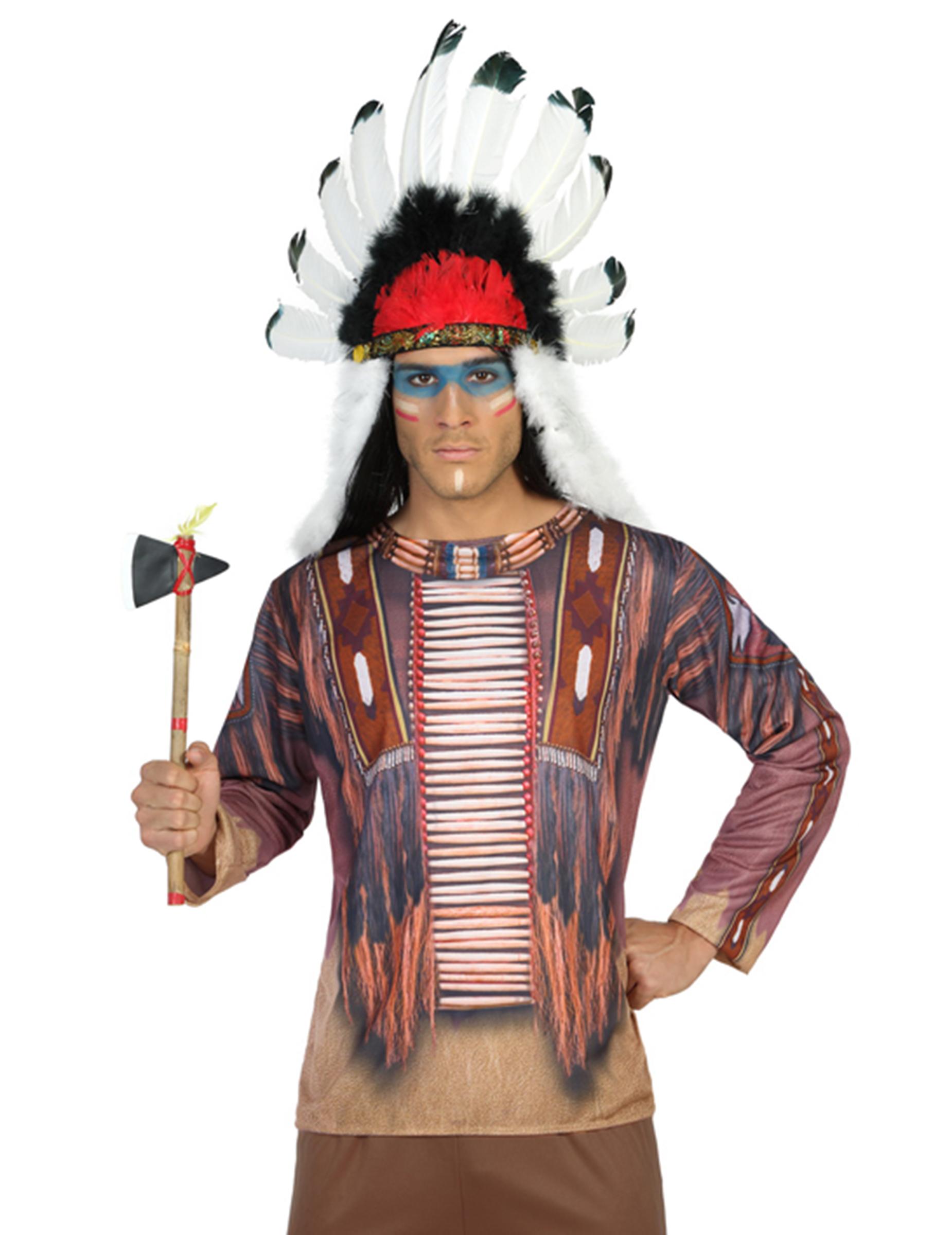 indianer t shirt f r herren kost me f r erwachsene und g nstige faschingskost me vegaoo. Black Bedroom Furniture Sets. Home Design Ideas