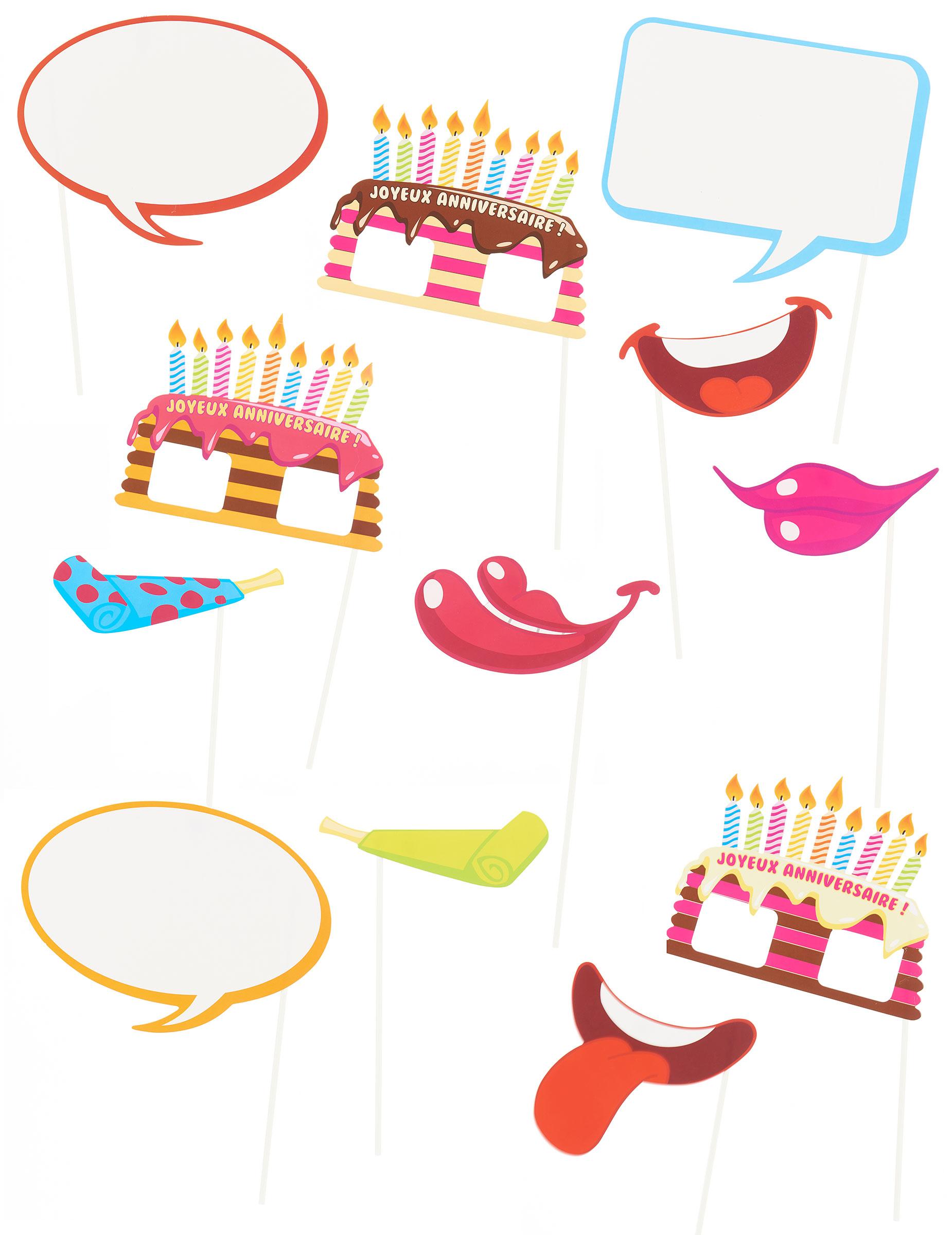 Photobooth Accessoire Set Geburtstag Partydeko Und