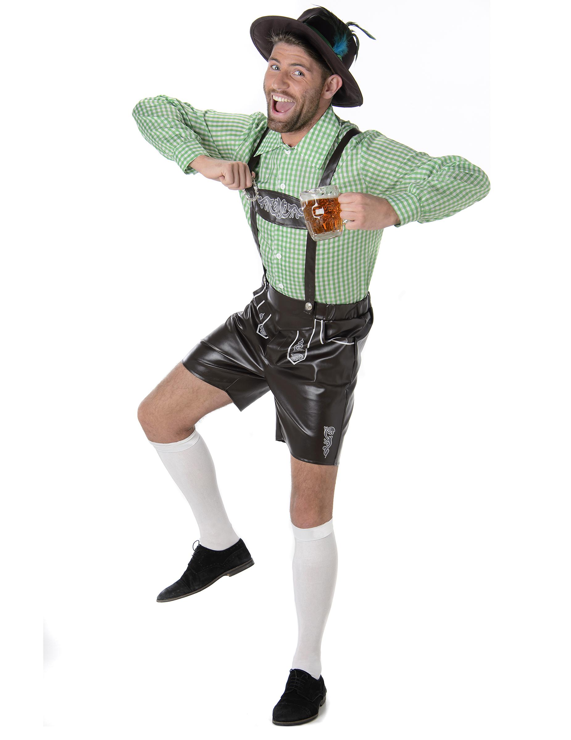 Bayerisches Lederhosen Kostüm für Erwachsene - S 83192