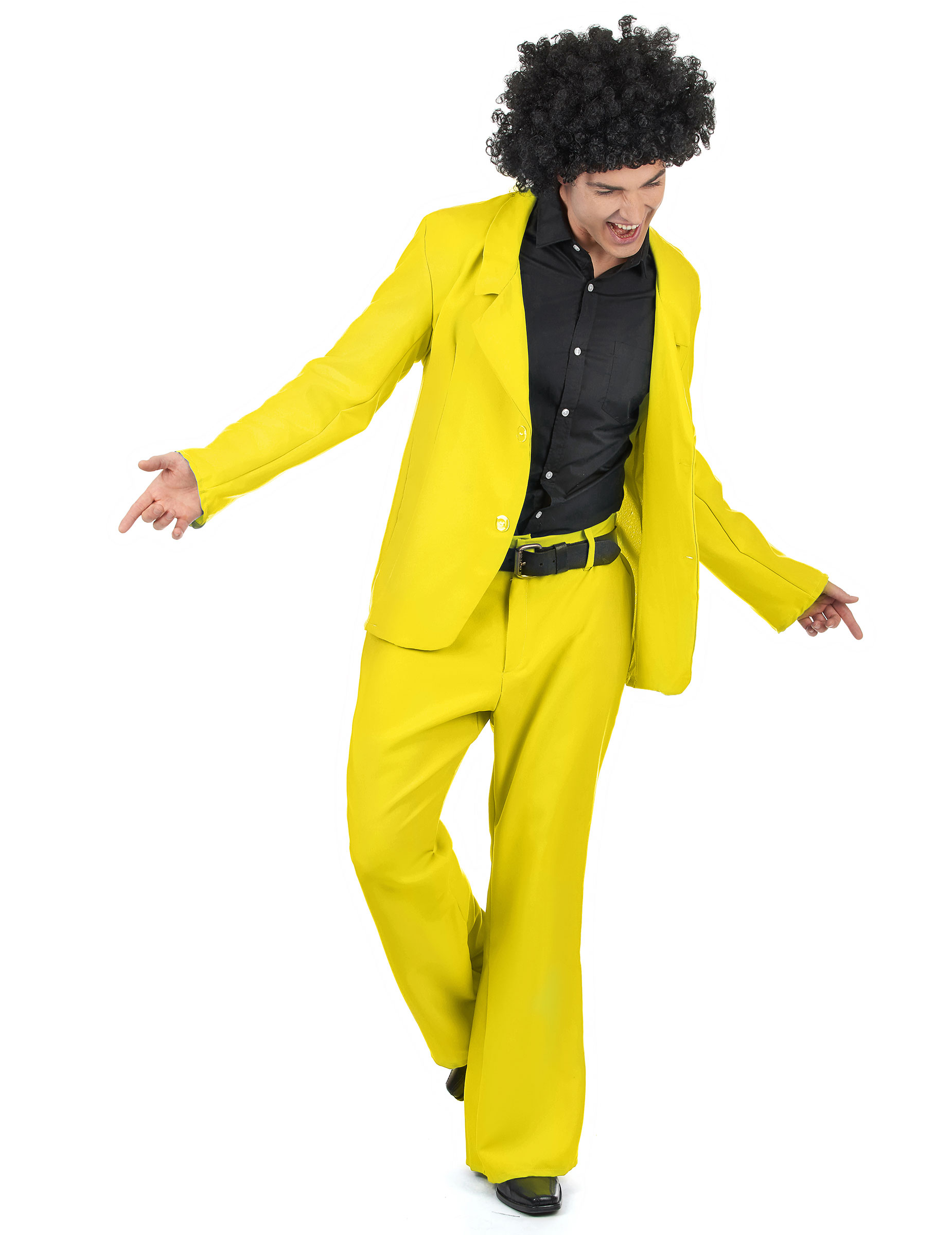 Gelbes Disco Kostüm - XL 148253