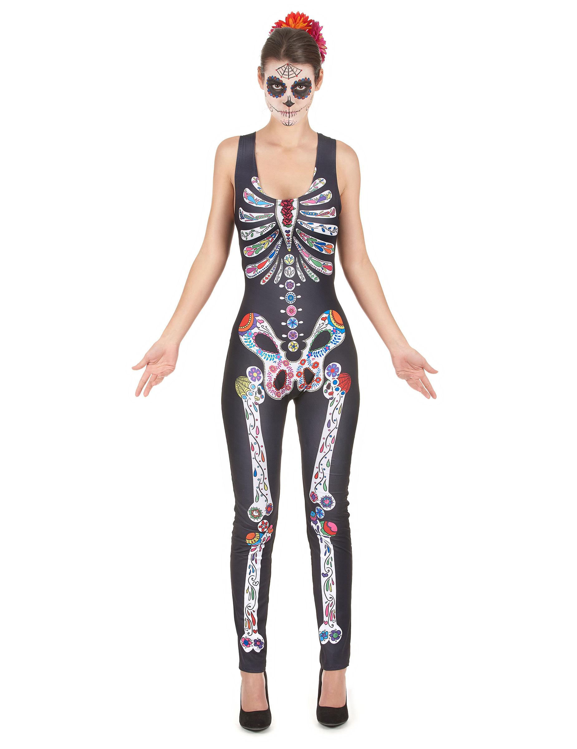 dia de los muertos skelett kost m f r damen. Black Bedroom Furniture Sets. Home Design Ideas