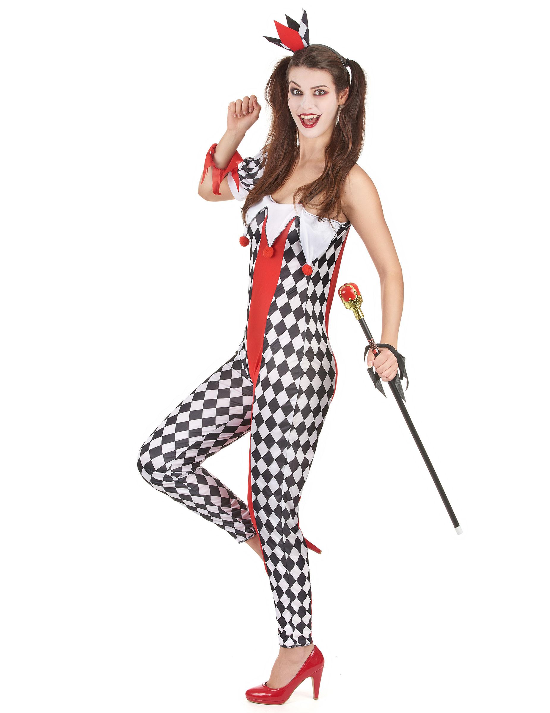 Joker Harlekin Kostum Fur Damen