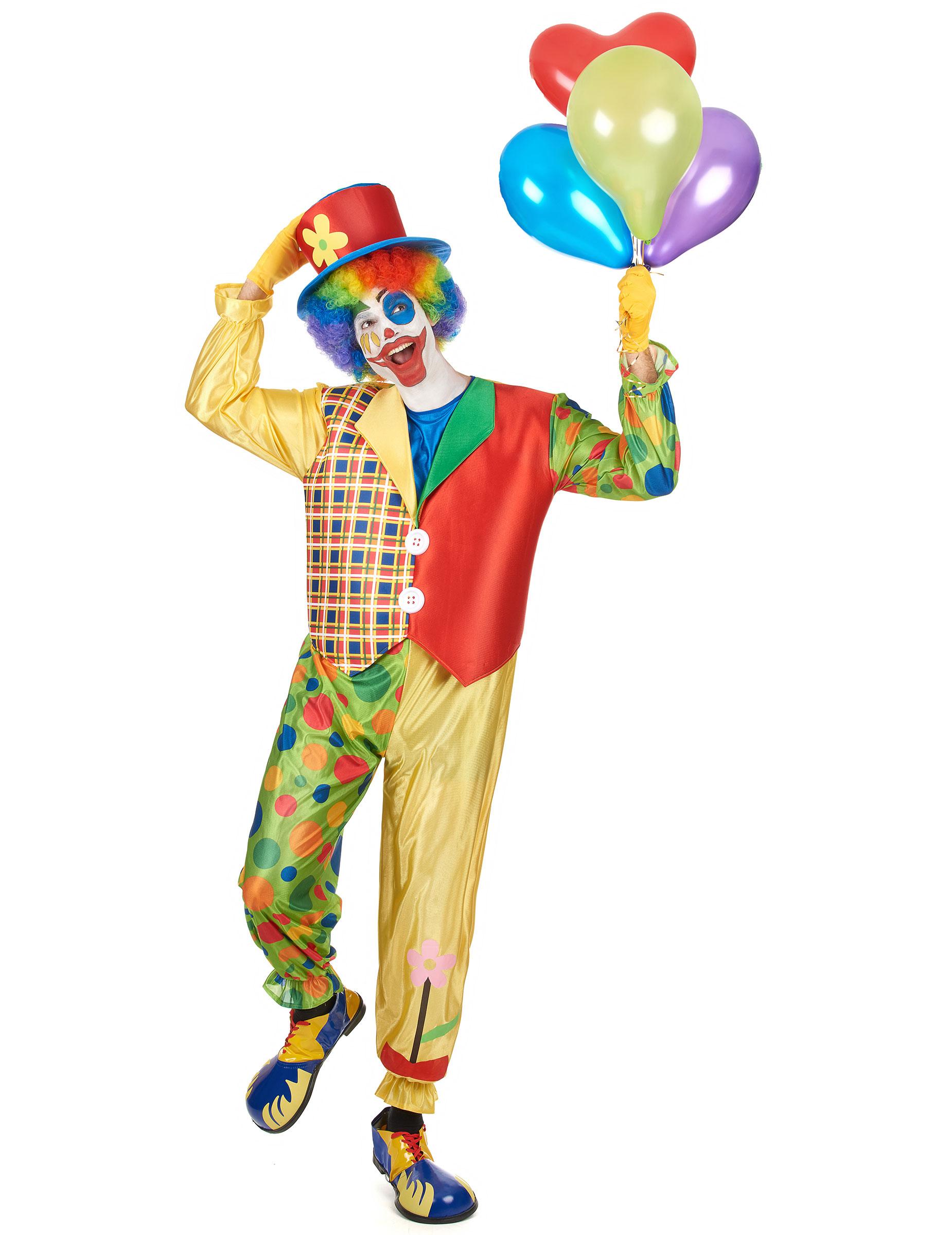 Schrilles Clown Kostum Kostume Fur Erwachsene Und Gunstige