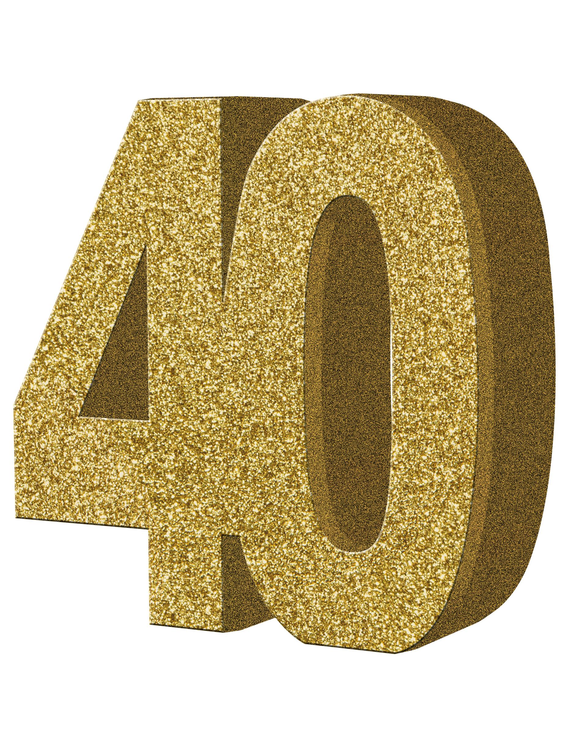 Tisch dekoration zahl 40 gold partydeko und g nstige faschingskost me vegaoo - Dekoration gold ...