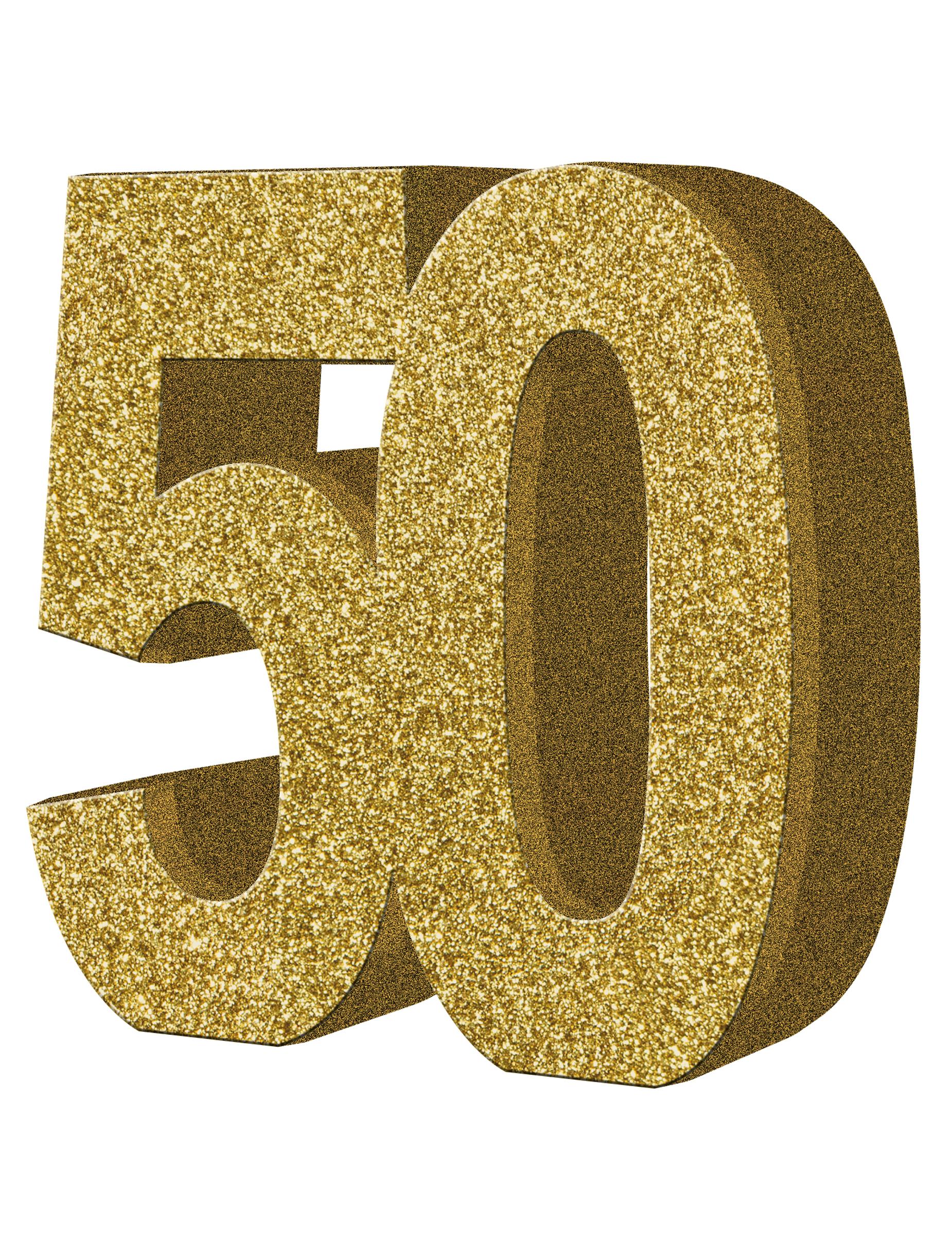 Tisch dekoration zahl 50 gold partydeko und g nstige for Versiering goud