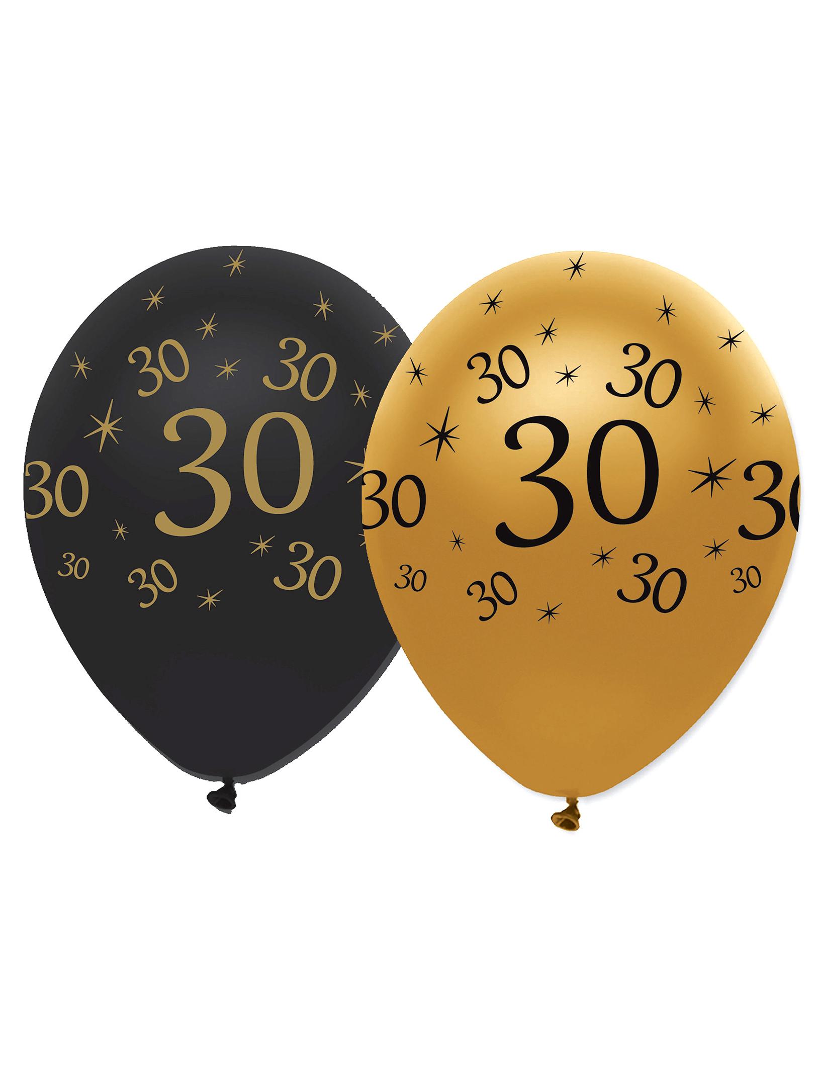 6 luftballons 30 geburtstag partydeko und g nstige faschingskost me vegaoo. Black Bedroom Furniture Sets. Home Design Ideas