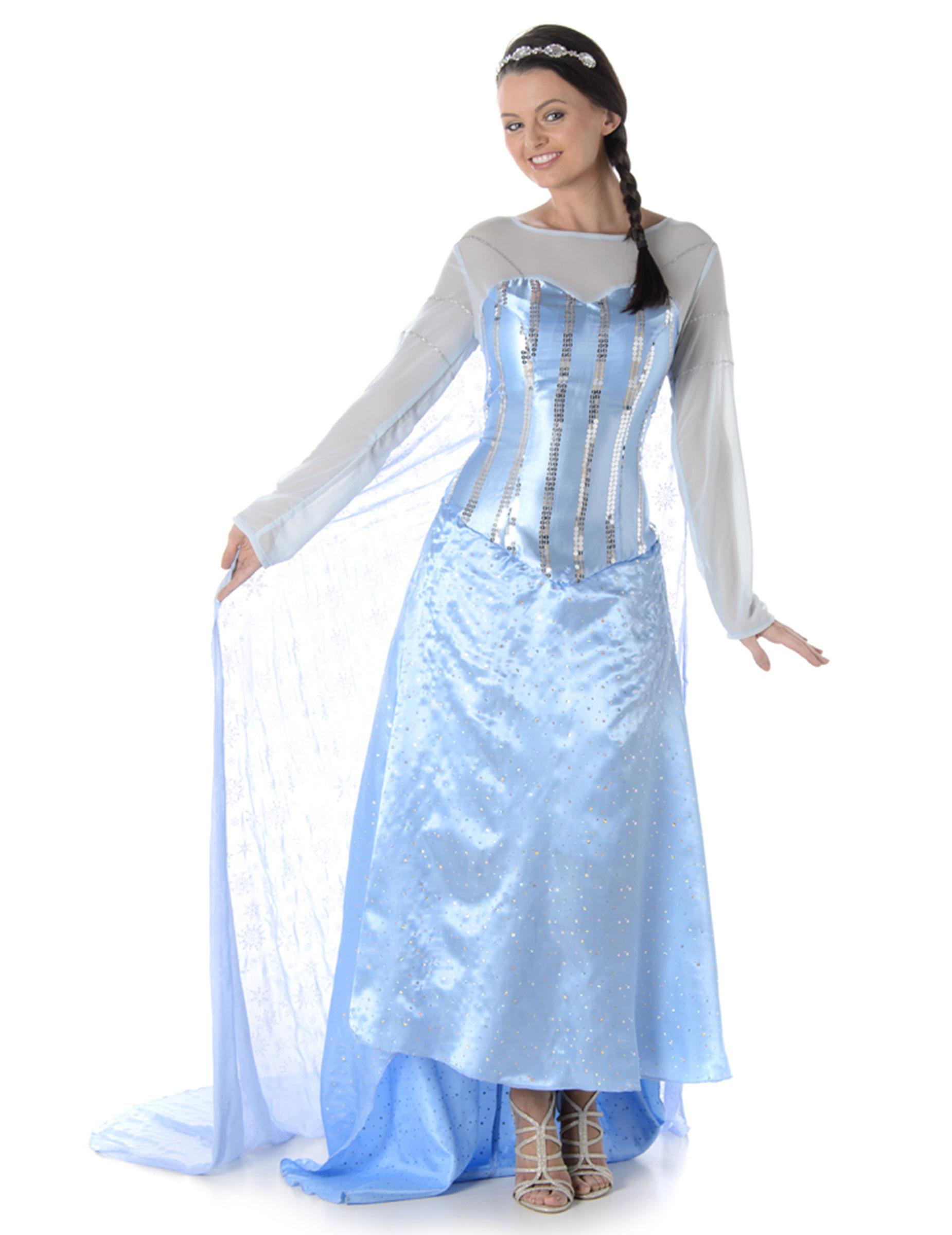 Schneekönigin Kostüm für Damen - S 149028
