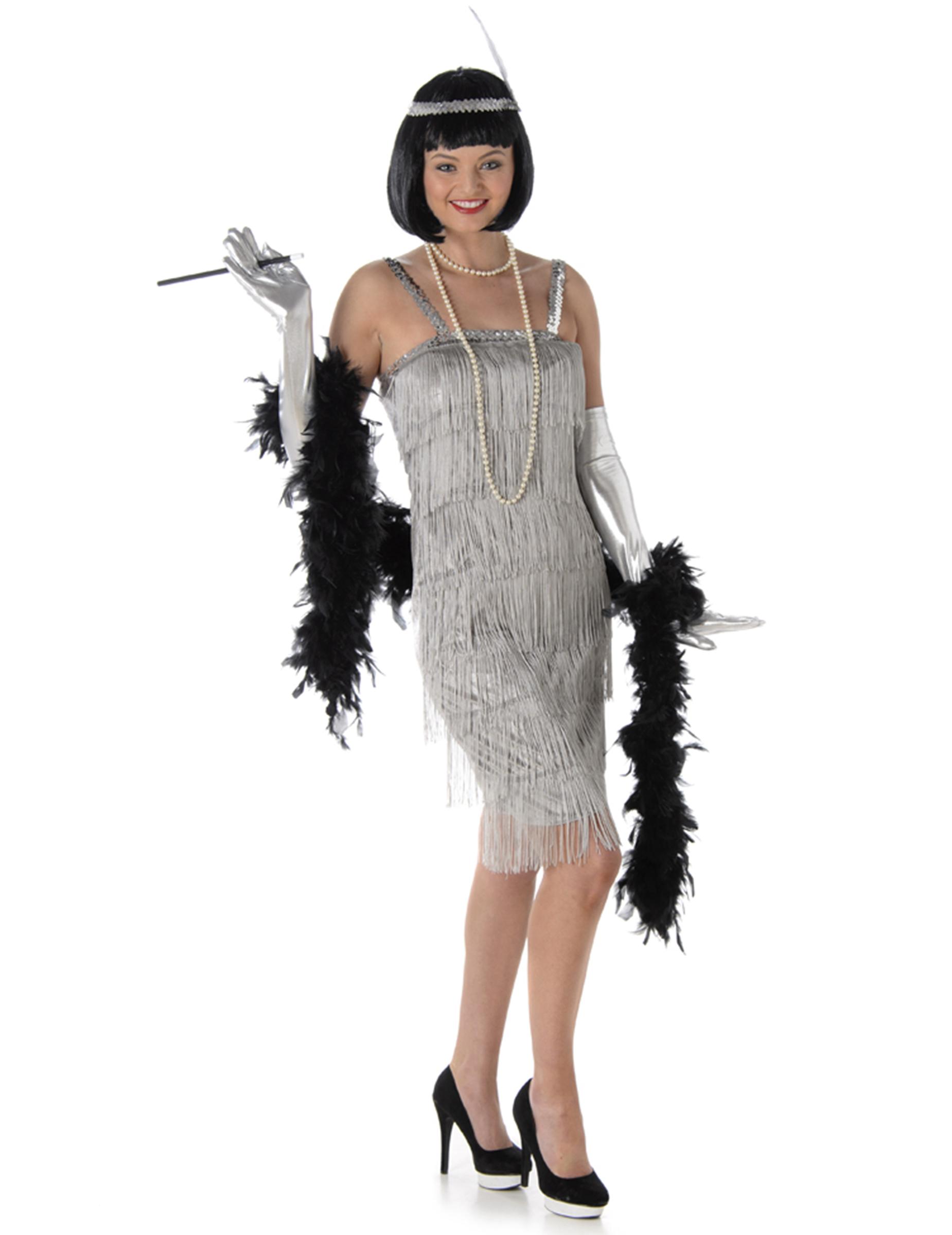 Charleston Kostum Fur Damen In Silber Kostume Fur Erwachsene Und