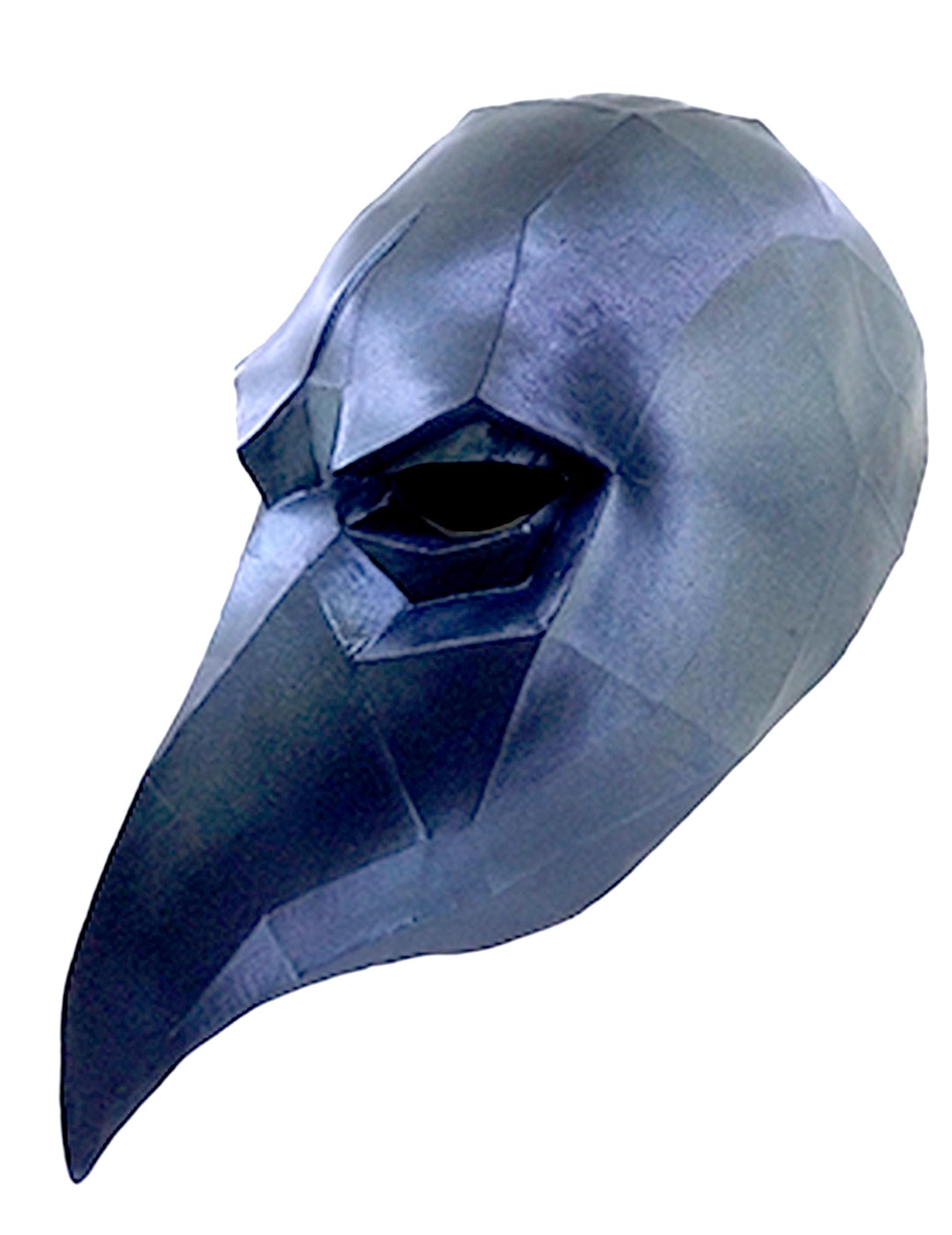 3D Raben Maske Low Poly - Hand bemalt 152740