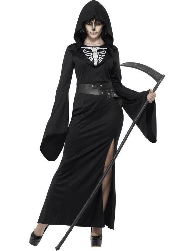 Schwarzes Henker Kostüm Halloween für Damen: Kostüme für