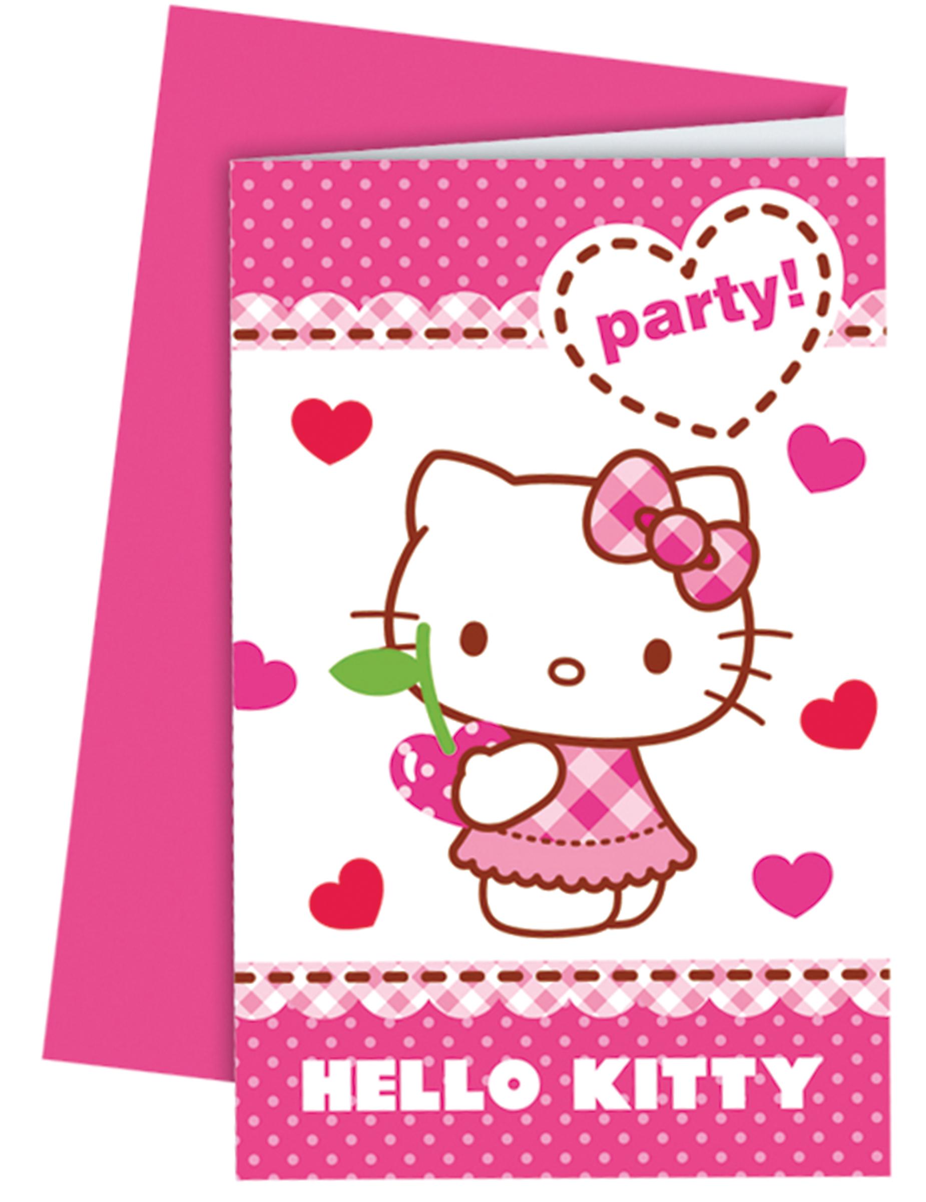 hello kitty™ einladungskarten mit umschlägen: partydeko,und, Einladungsentwurf