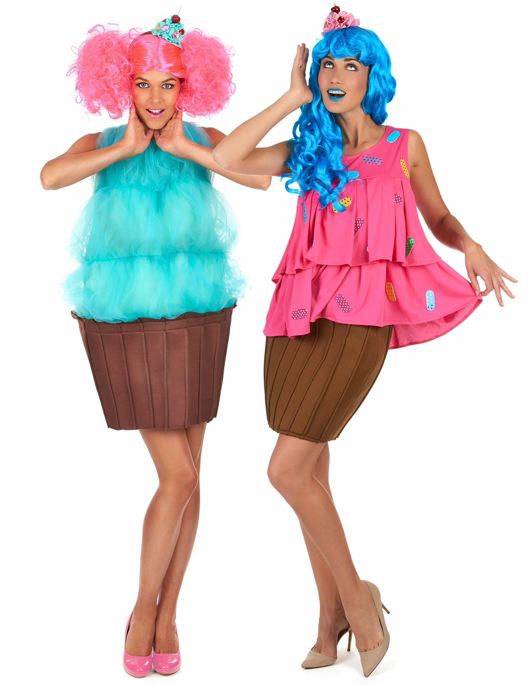 muffin cupcake paarkostume fur damen bunt