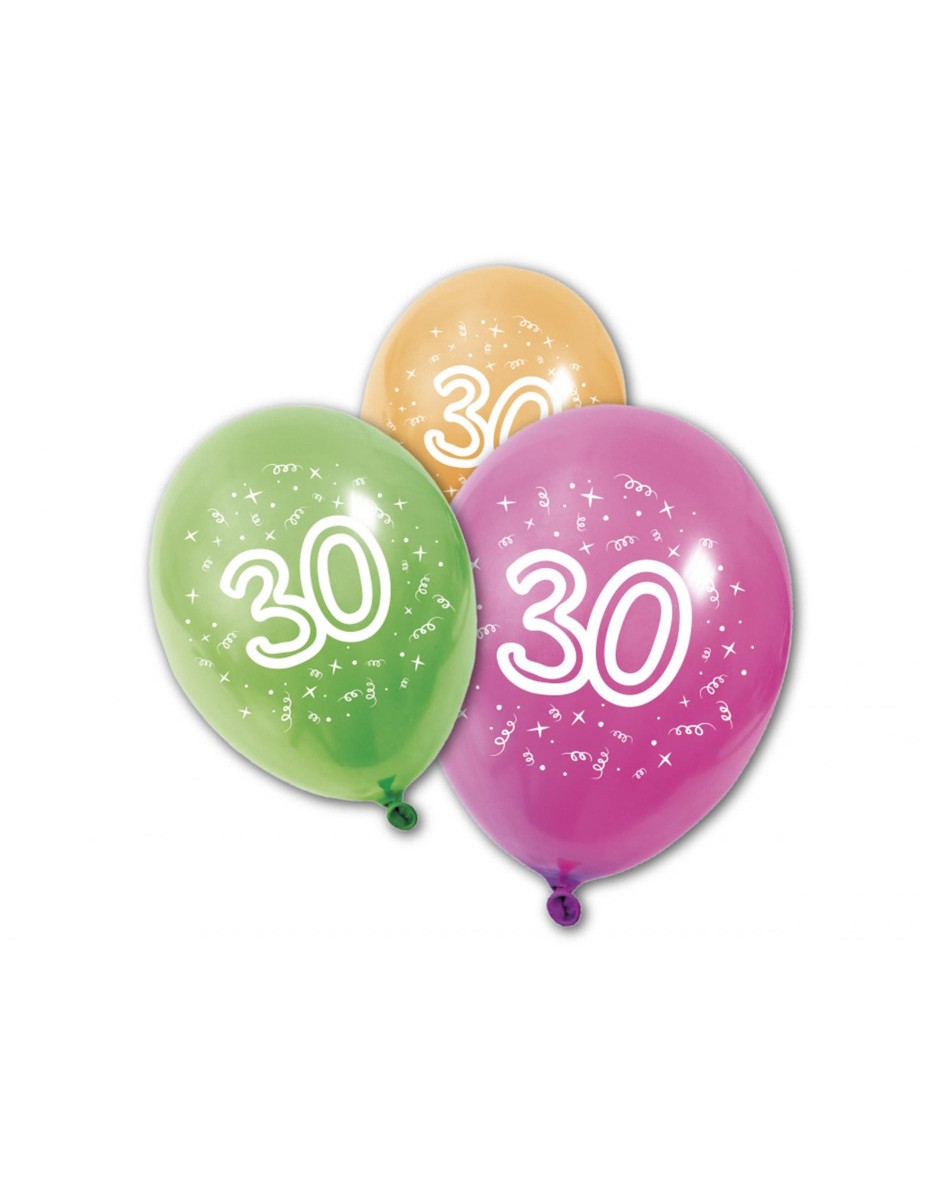 8 luftballons 30 jahre partydeko und g nstige faschingskost me vegaoo. Black Bedroom Furniture Sets. Home Design Ideas