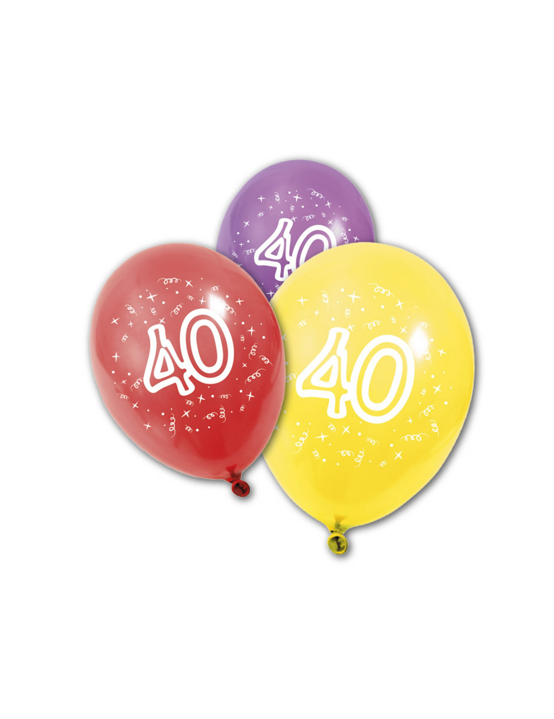8 Luftballons 40 Jahre Partydekound Günstige Faschingskostüme