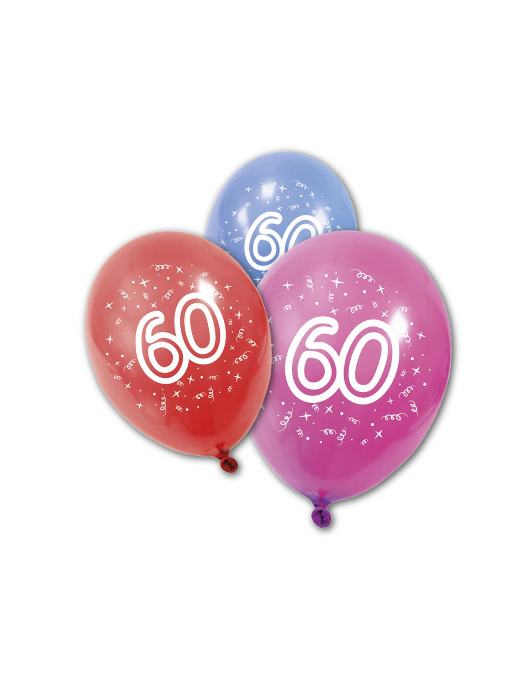 8 Luftballons 60 Jahre Partydeko Und G 252 Nstige