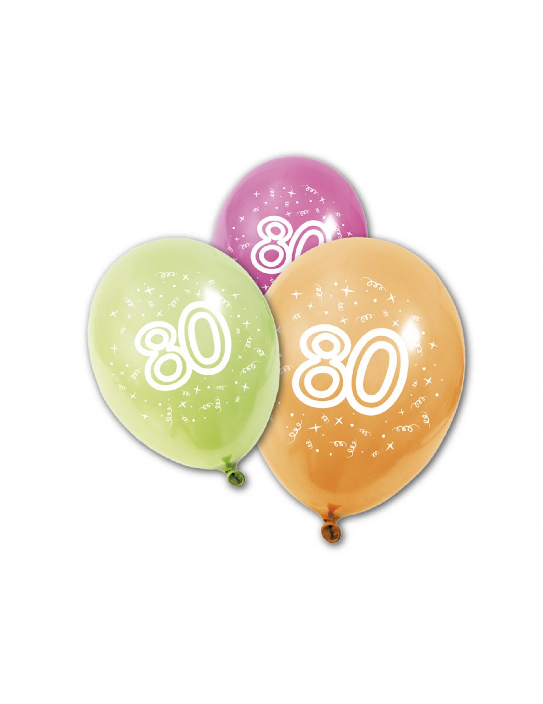8 luftballons 80 geburtstag partydeko und g nstige. Black Bedroom Furniture Sets. Home Design Ideas